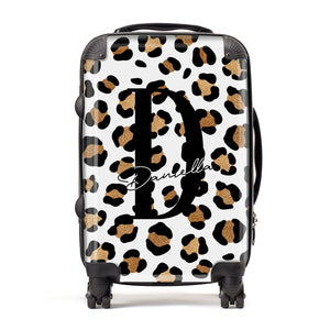 Personalised Leopard Print Suitcase