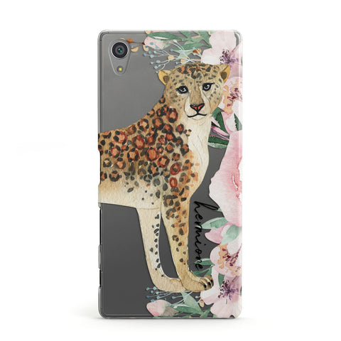 Personalised Leopard Sony Case