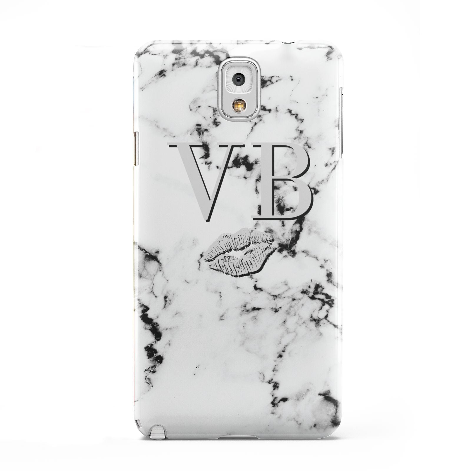 Personalised Lips Kiss Marble Initialed Samsung Galaxy Note 3 Case