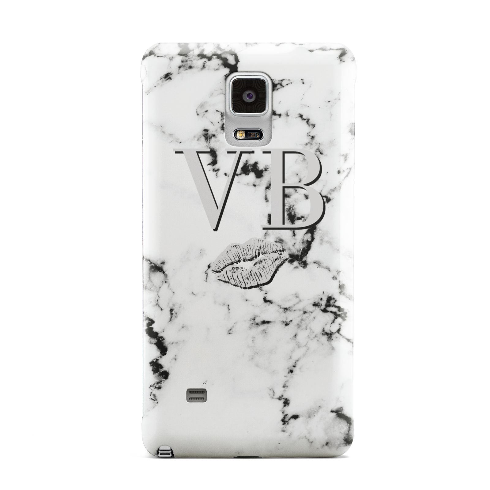Personalised Lips Kiss Marble Initialed Samsung Galaxy Note 4 Case