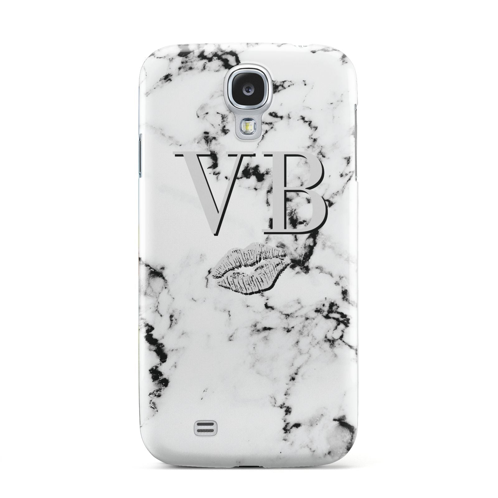 Personalised Lips Kiss Marble Initialed Samsung Galaxy S4 Case