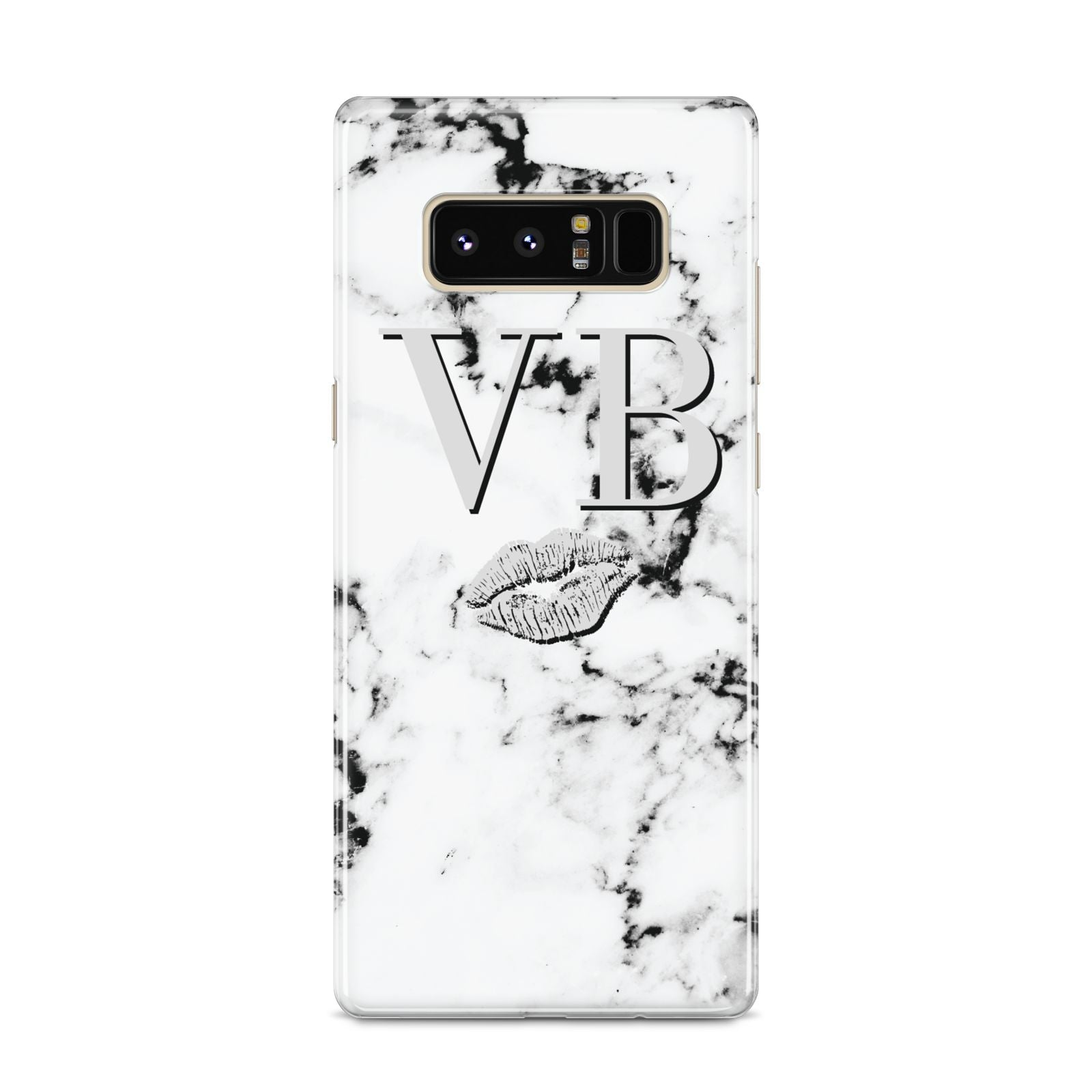 Personalised Lips Kiss Marble Initialed Samsung Galaxy S8 Case