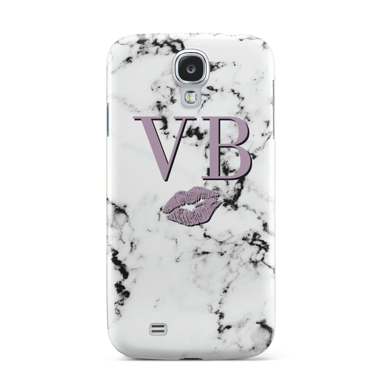Personalised Lipstick Kiss Initials Marble Samsung Galaxy S4 Case