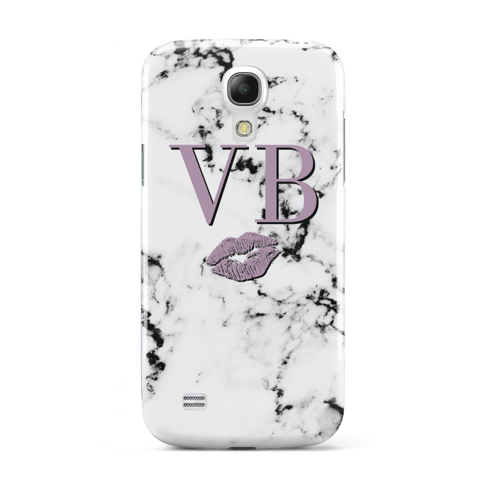 Personalised Lipstick Kiss Initials Marble Samsung Galaxy S4 Mini Case