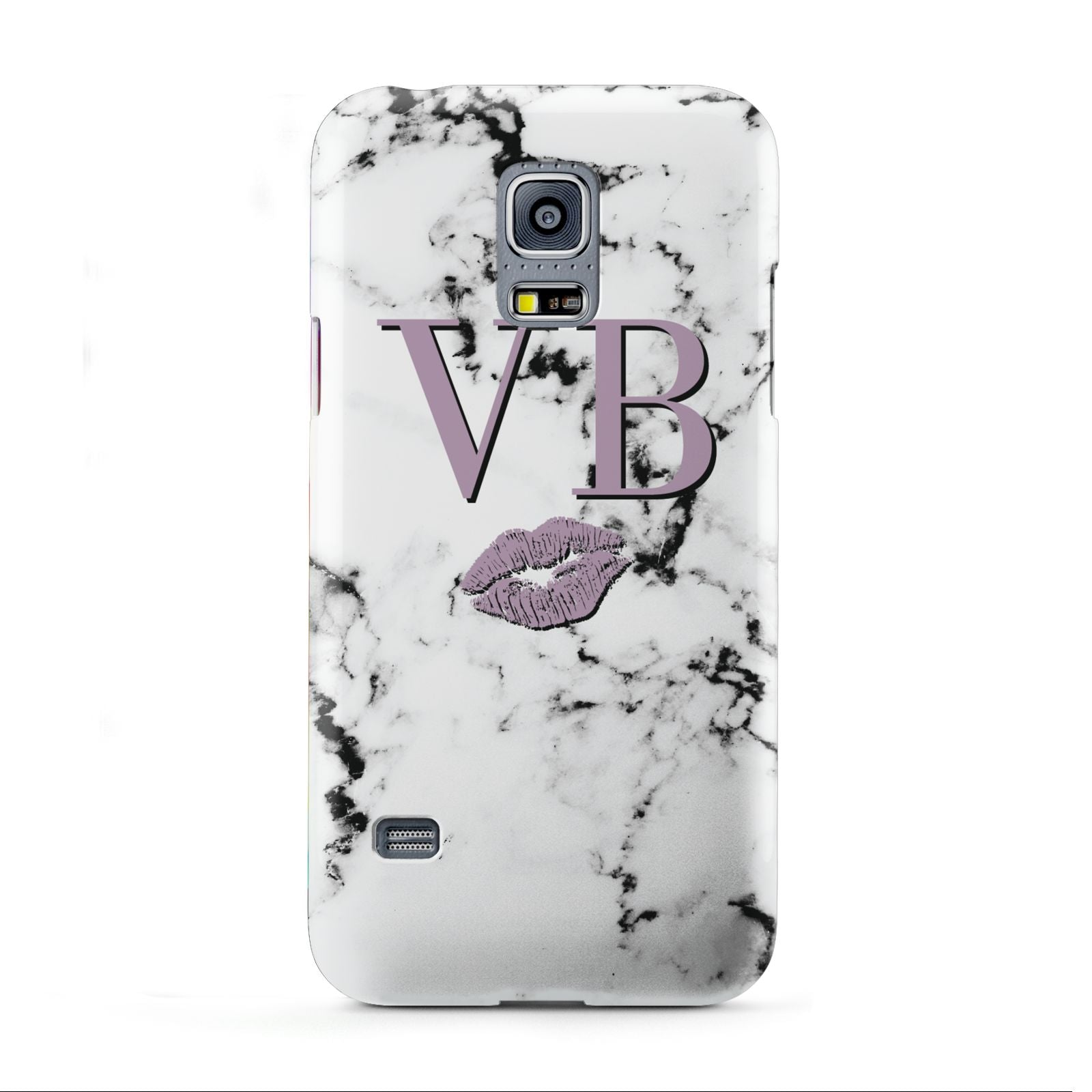 Personalised Lipstick Kiss Initials Marble Samsung Galaxy S5 Mini Case