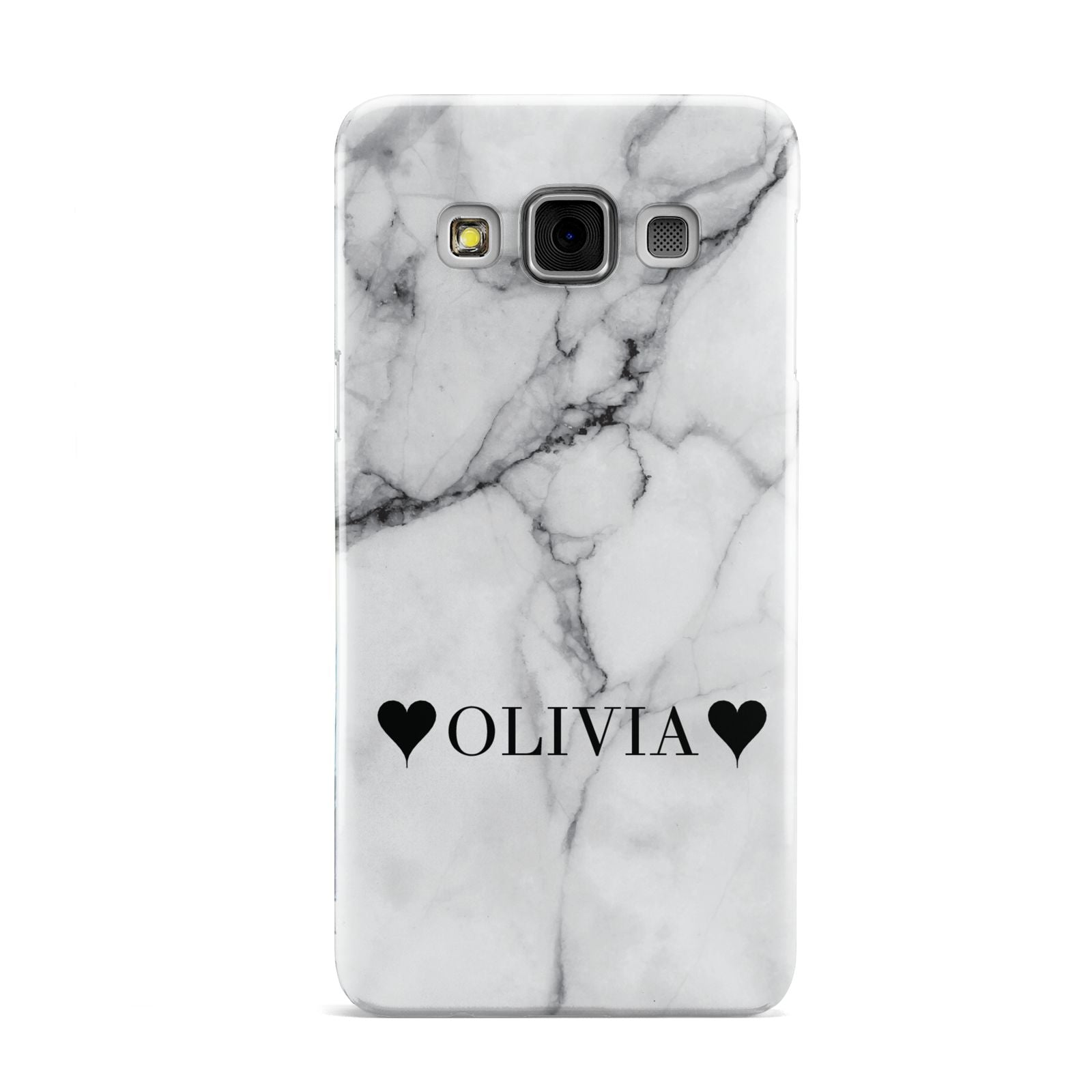 Personalised Love Hearts Marble Name Samsung Galaxy A3 Case