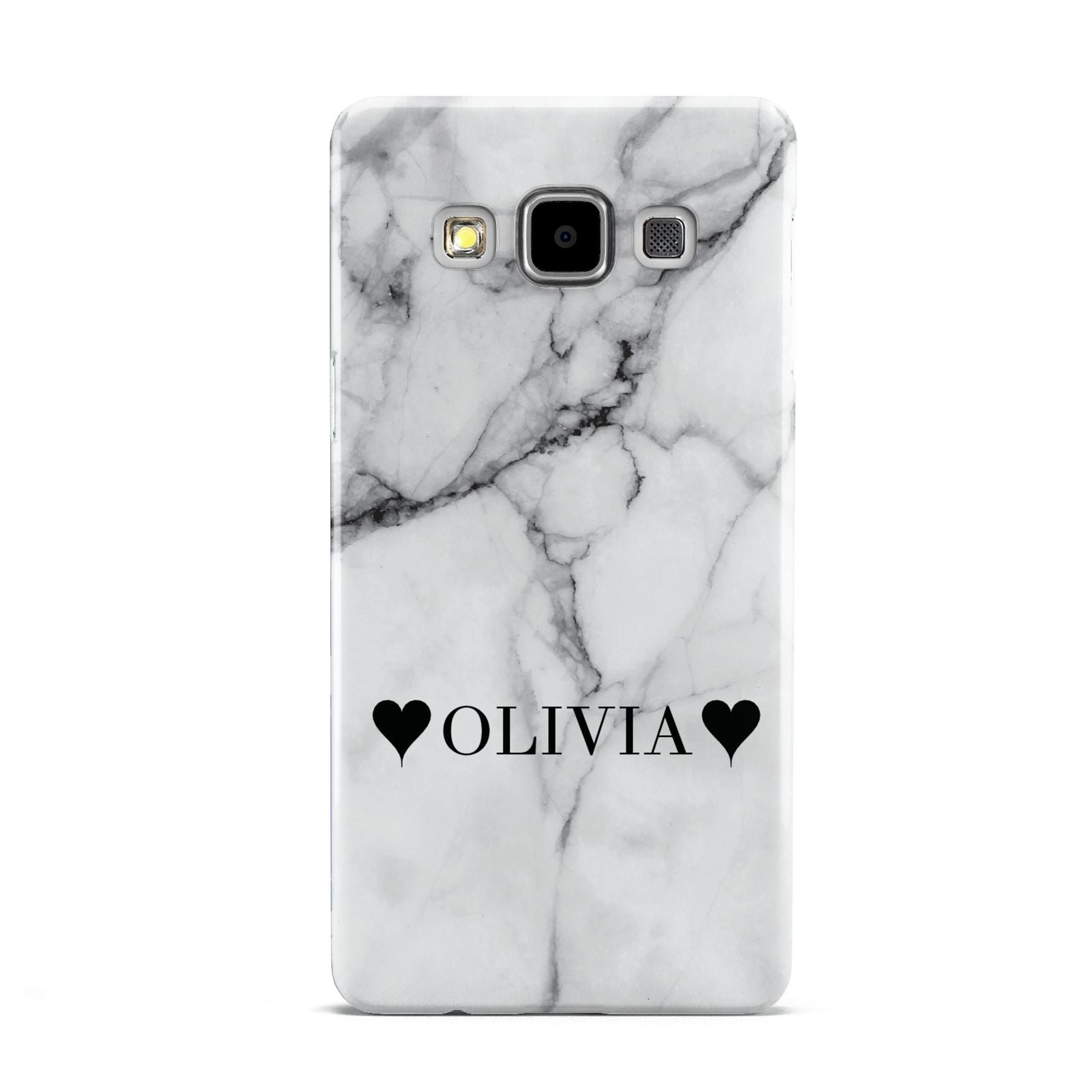 Personalised Love Hearts Marble Name Samsung Galaxy A5 Case