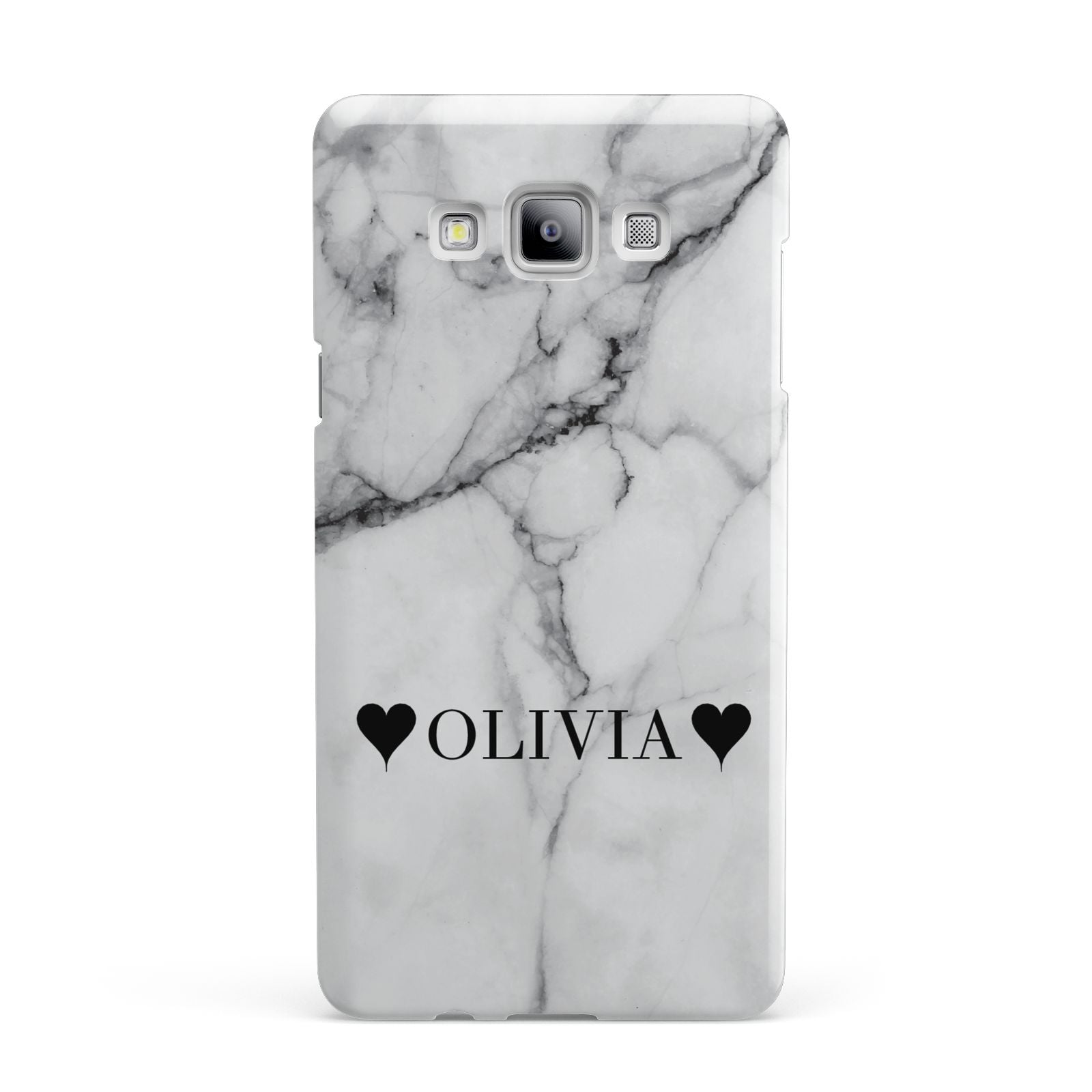 Personalised Love Hearts Marble Name Samsung Galaxy A7 2015 Case
