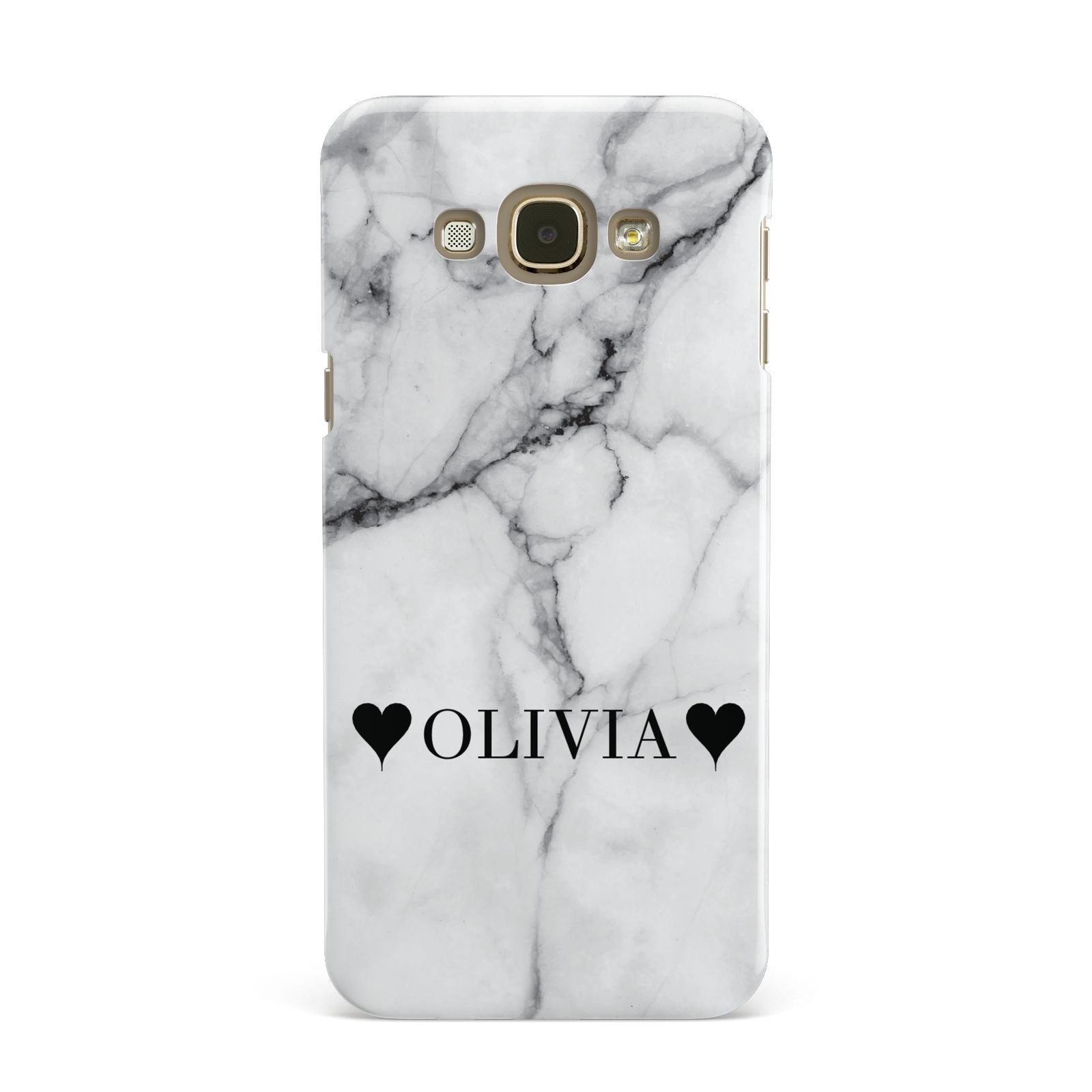 Personalised Love Hearts Marble Name Samsung Galaxy A8 Case