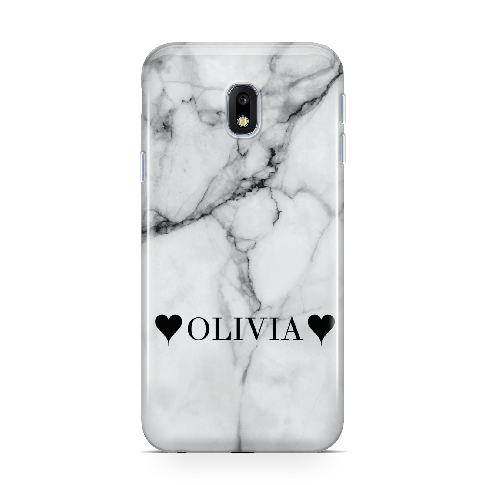 Personalised Love Hearts Marble Name Samsung Galaxy J3 2017 Case
