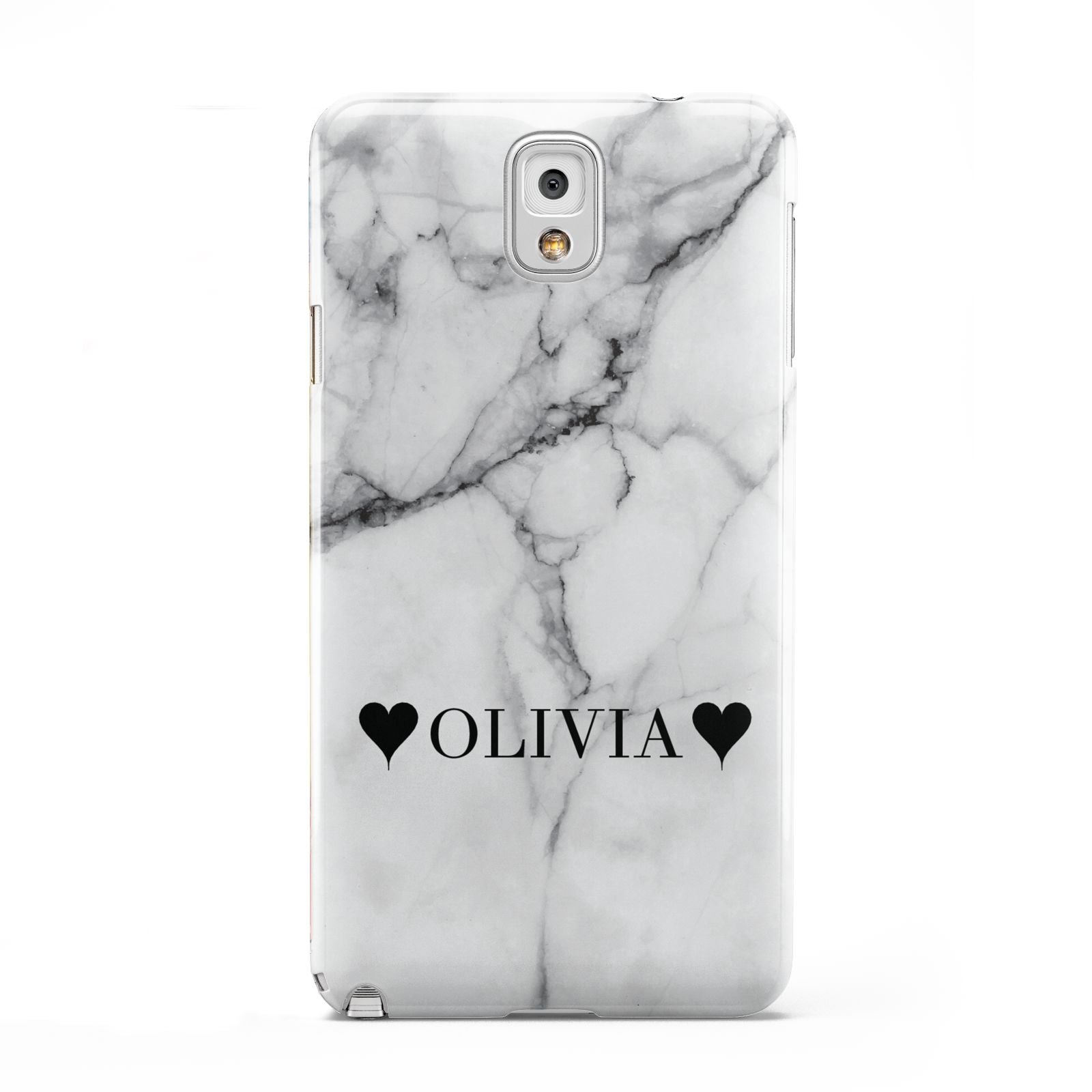Personalised Love Hearts Marble Name Samsung Galaxy Note 3 Case