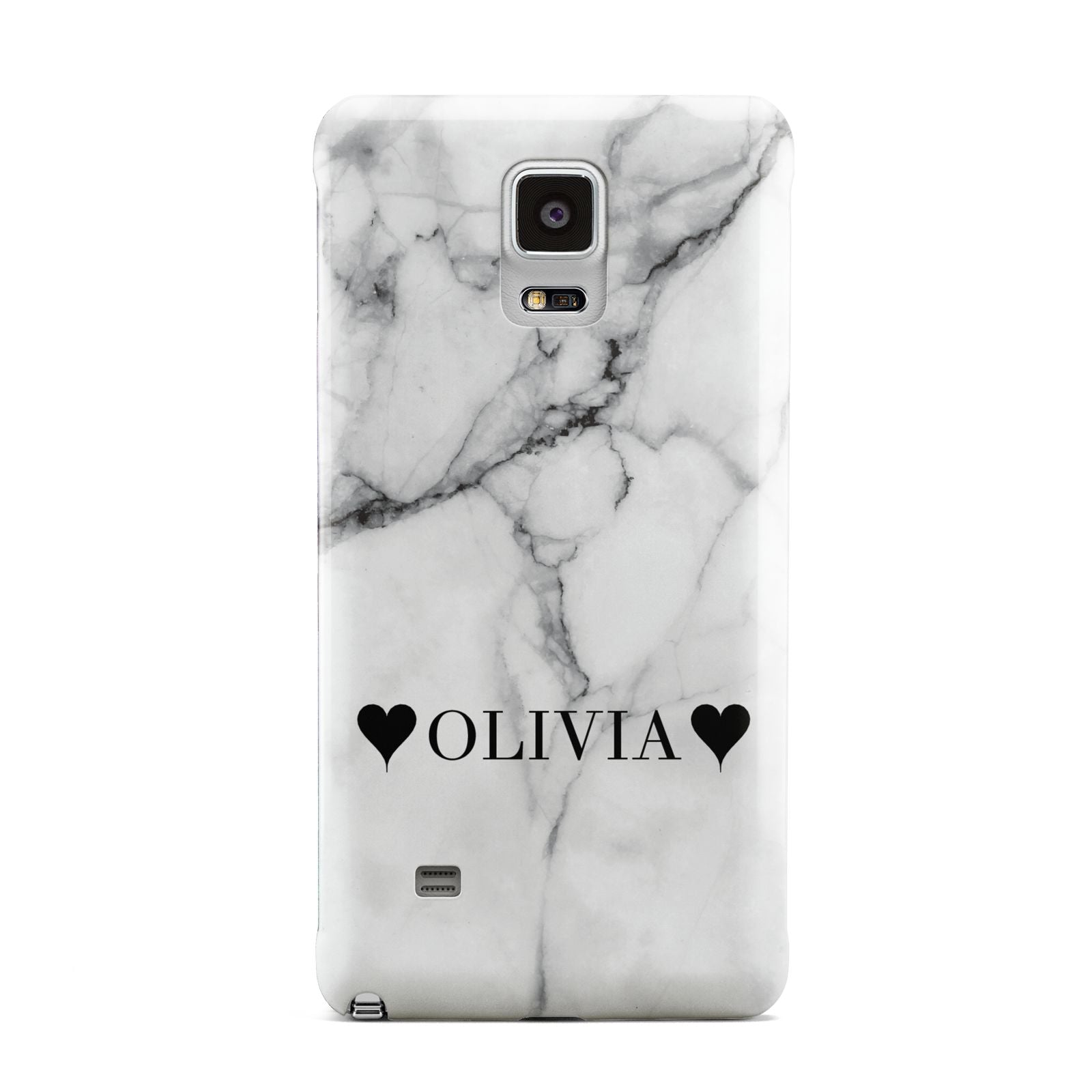 Personalised Love Hearts Marble Name Samsung Galaxy Note 4 Case