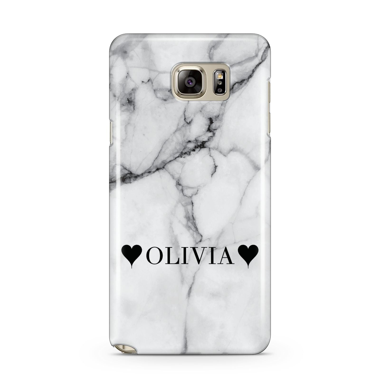 Personalised Love Hearts Marble Name Samsung Galaxy Note 5 Case