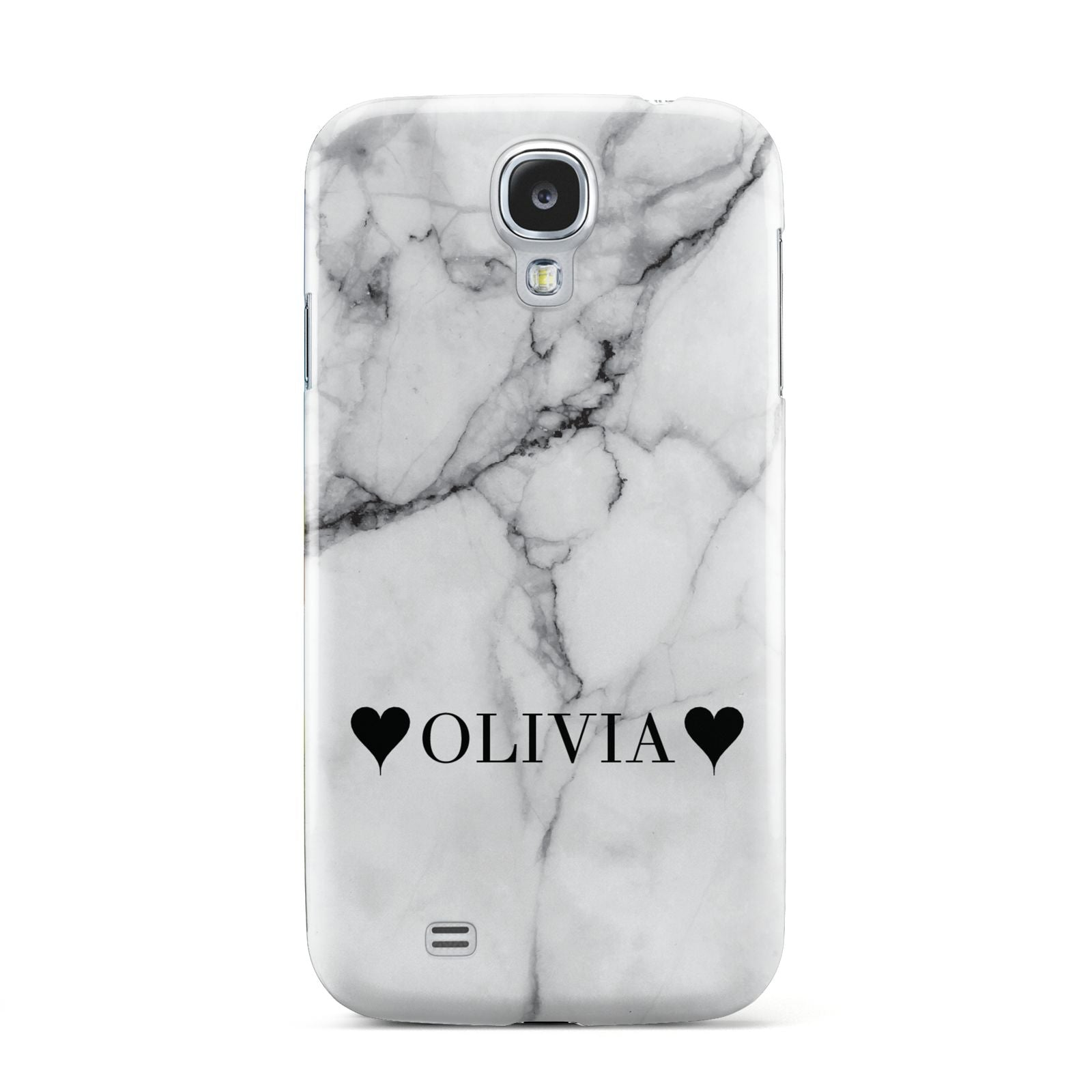 Personalised Love Hearts Marble Name Samsung Galaxy S4 Case