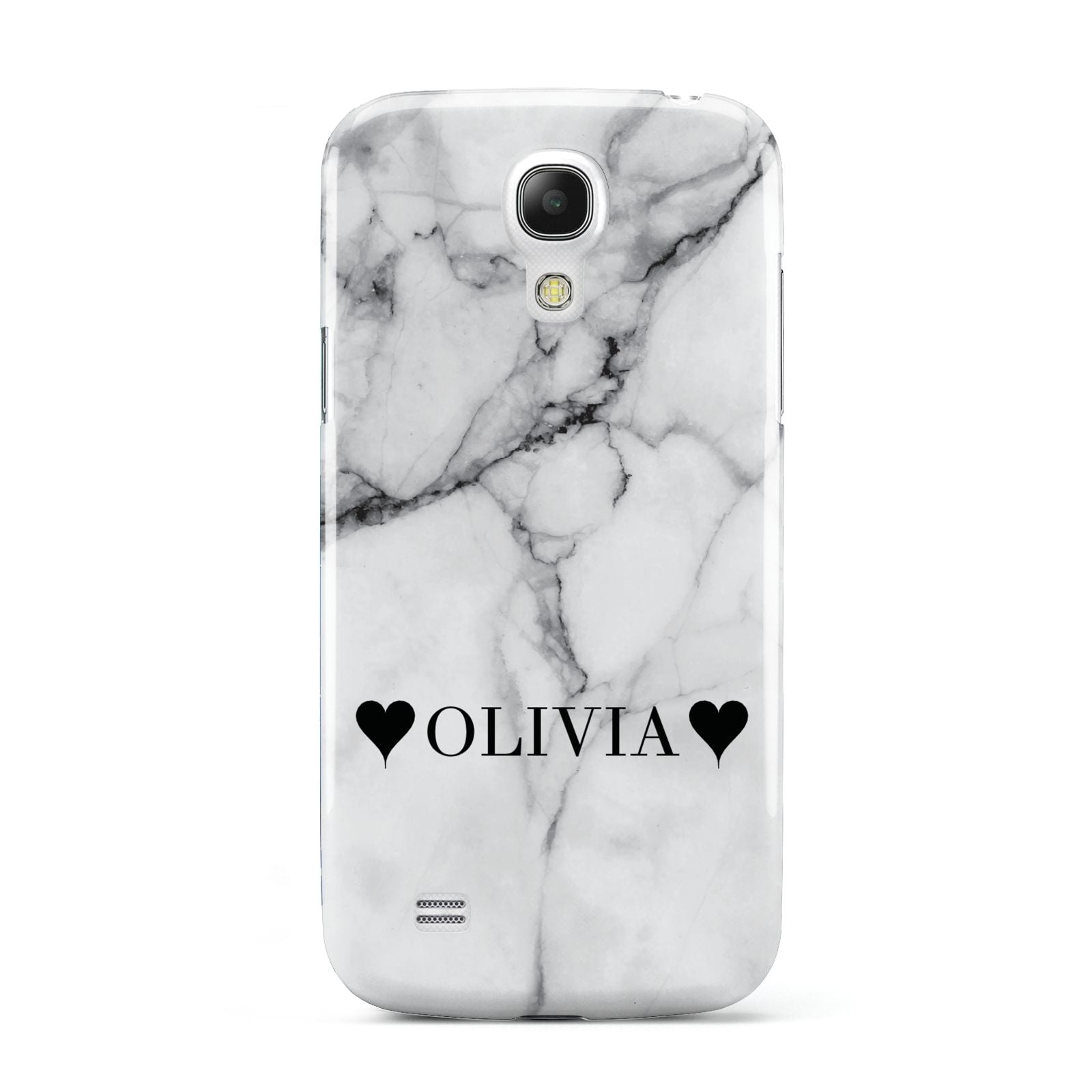 Personalised Love Hearts Marble Name Samsung Galaxy S4 Mini Case