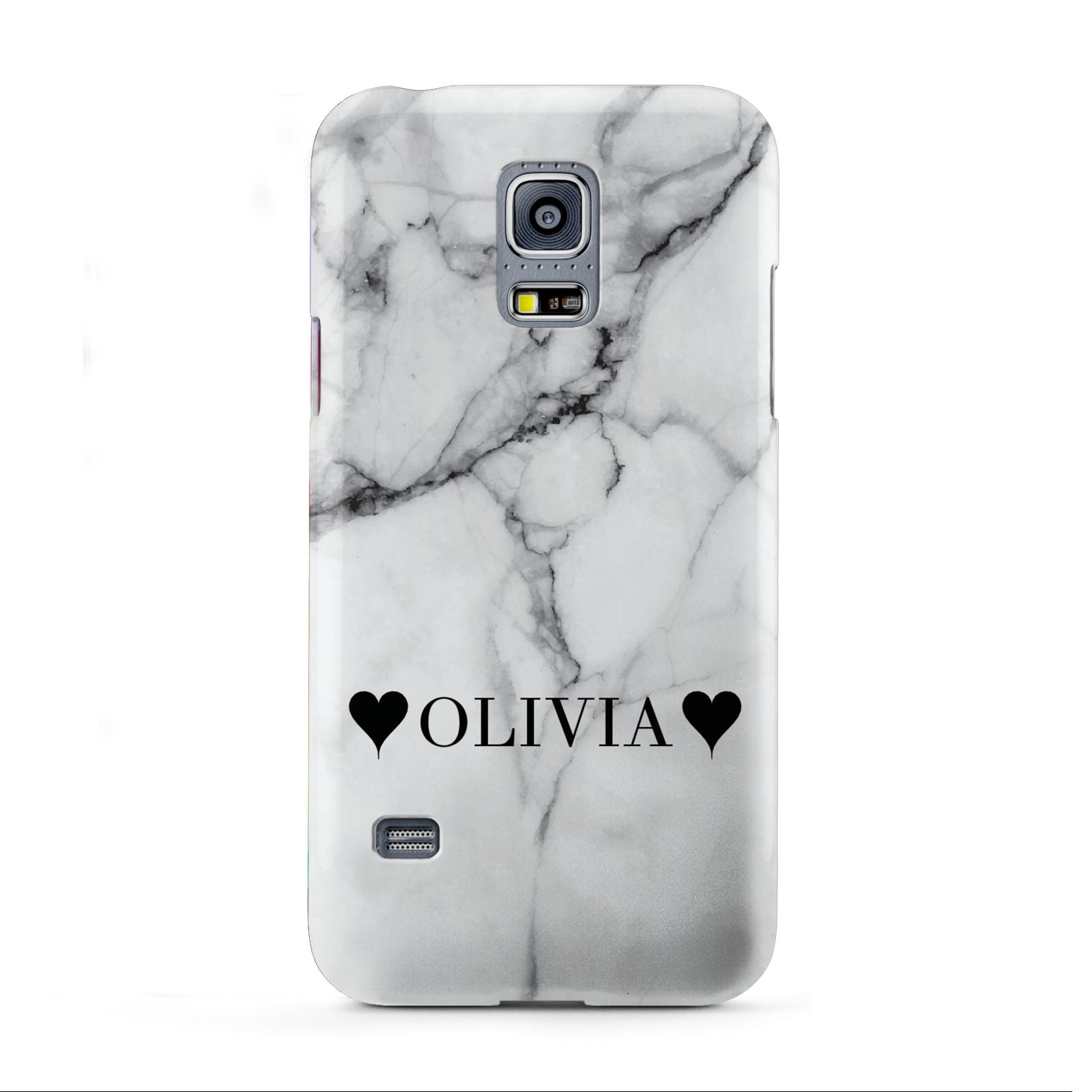 Personalised Love Hearts Marble Name Samsung Galaxy S5 Mini Case
