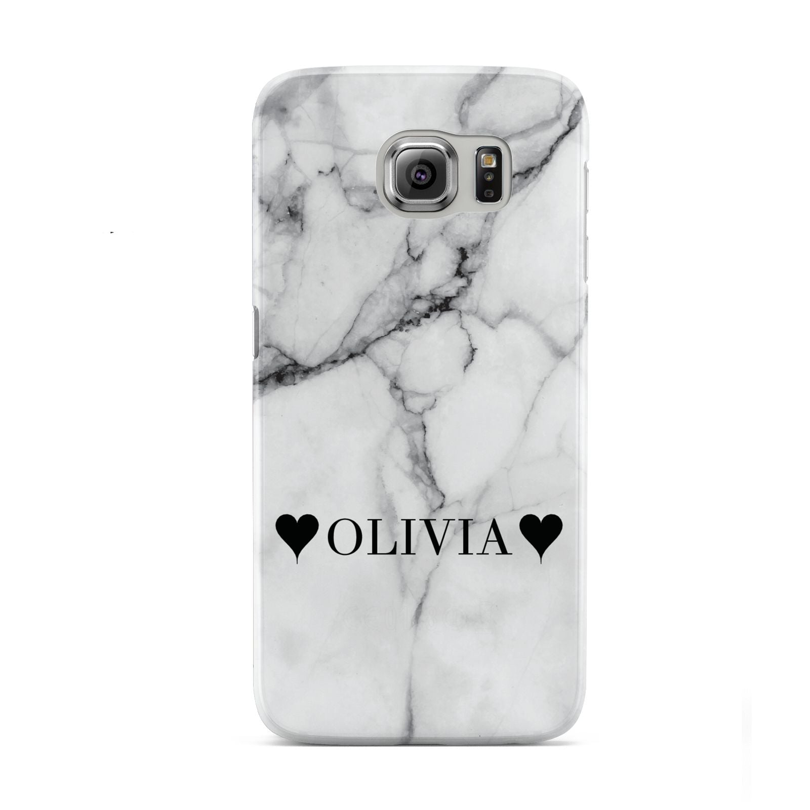 Personalised Love Hearts Marble Name Samsung Galaxy S6 Case