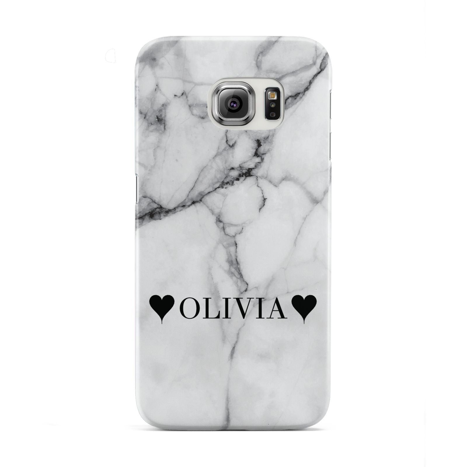 Personalised Love Hearts Marble Name Samsung Galaxy S6 Edge Case
