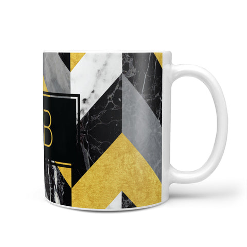 Personalised Marble Effect Initials Mug