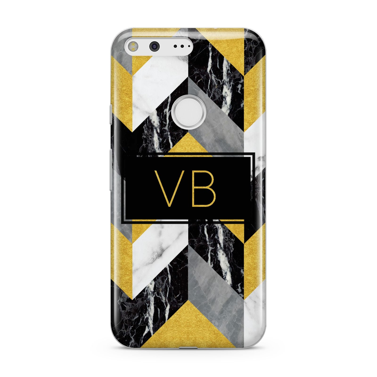 Personalised Marble Effect Initials Google Pixel Case