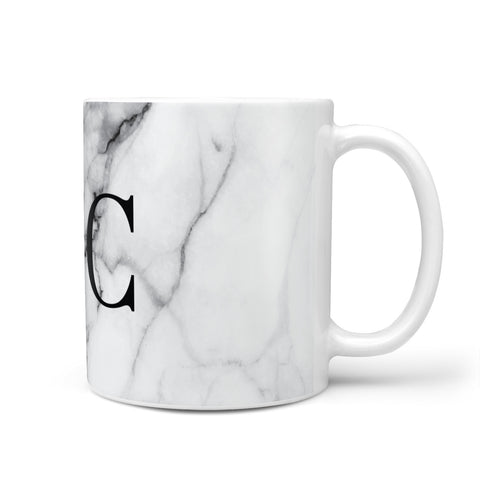 Personalised Marble Effect Initials Monogram Mug