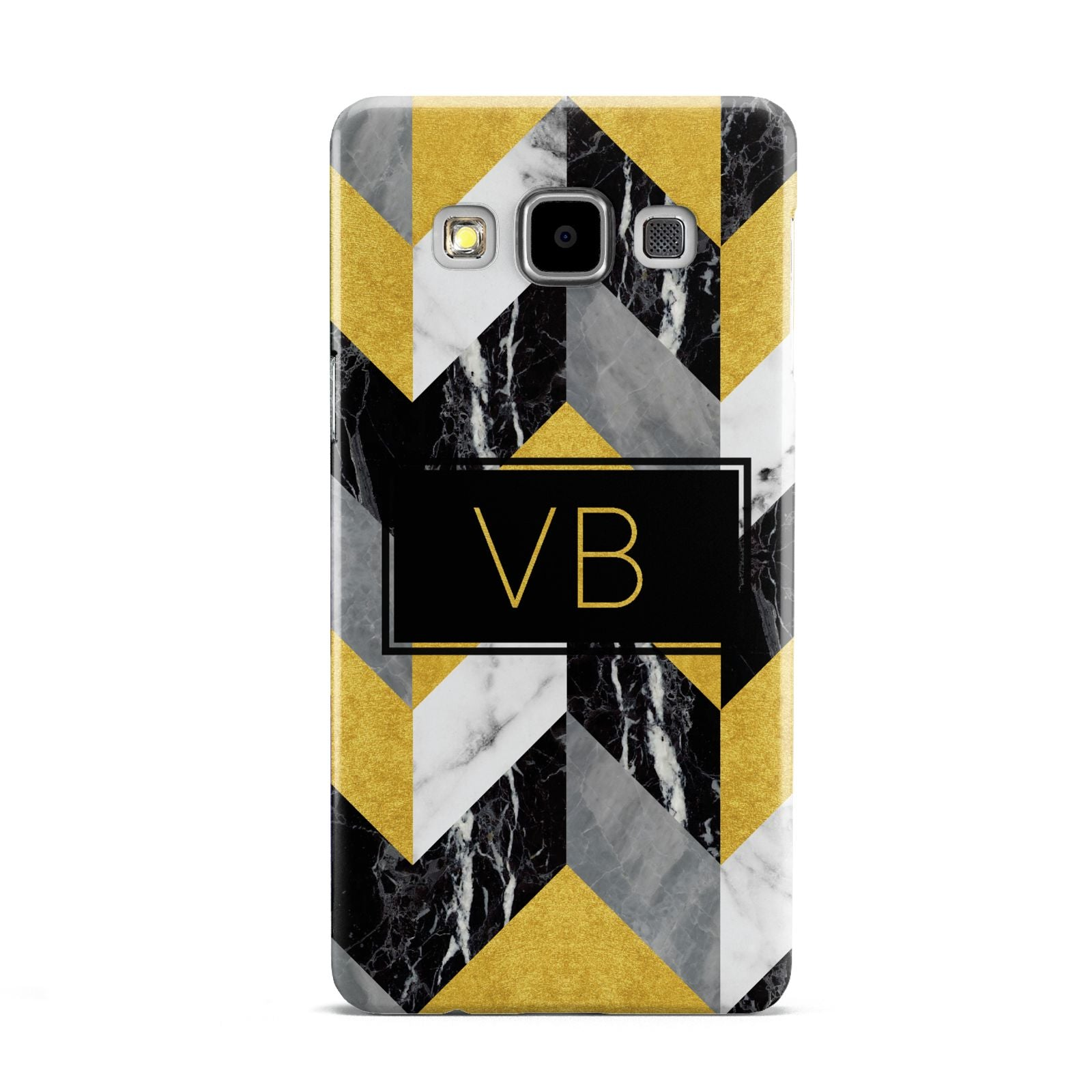 Personalised Marble Effect Initials Samsung Galaxy A5 Case