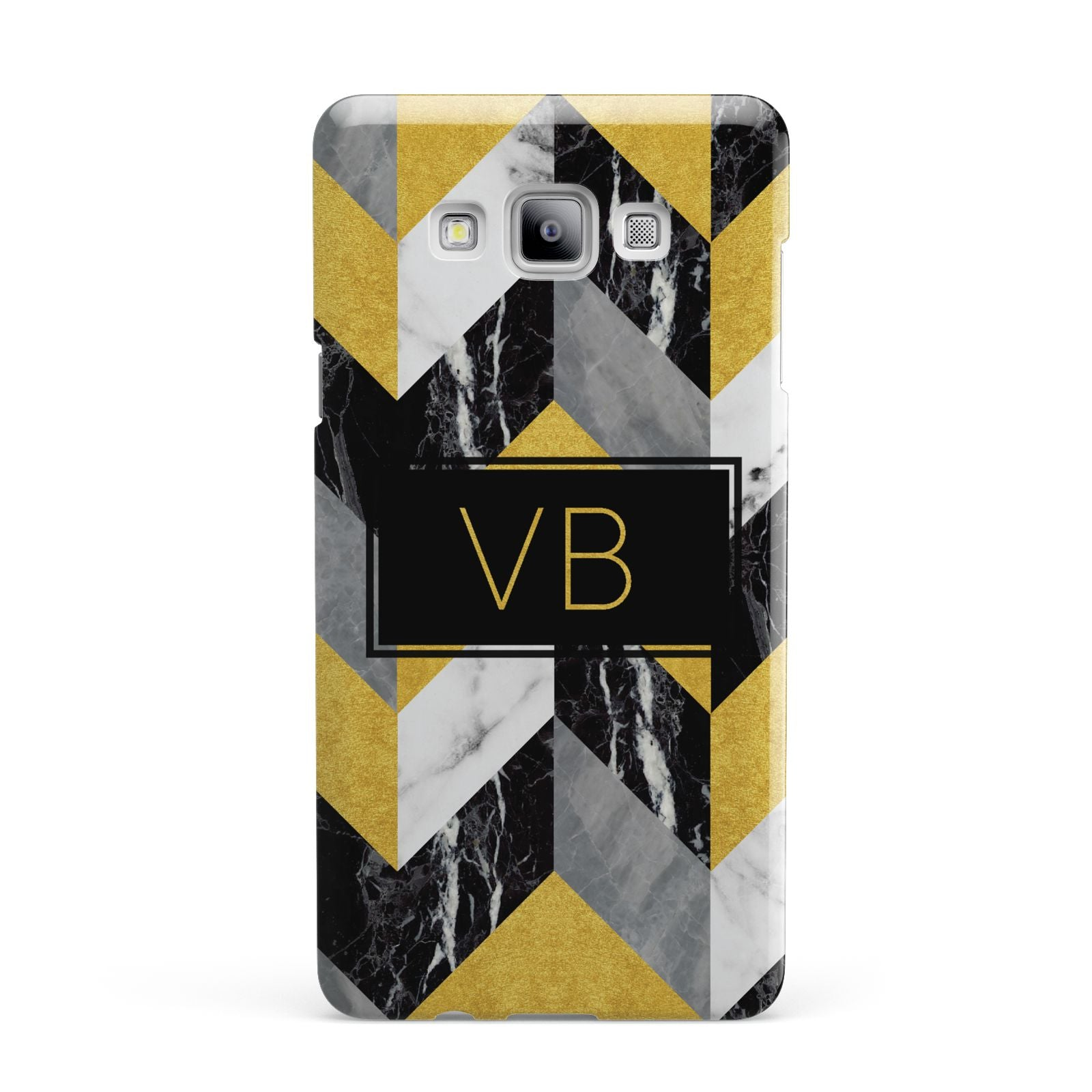 Personalised Marble Effect Initials Samsung Galaxy A7 2015 Case