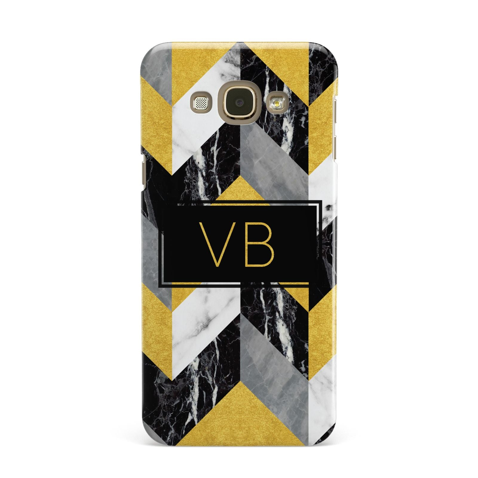 Personalised Marble Effect Initials Samsung Galaxy A8 Case