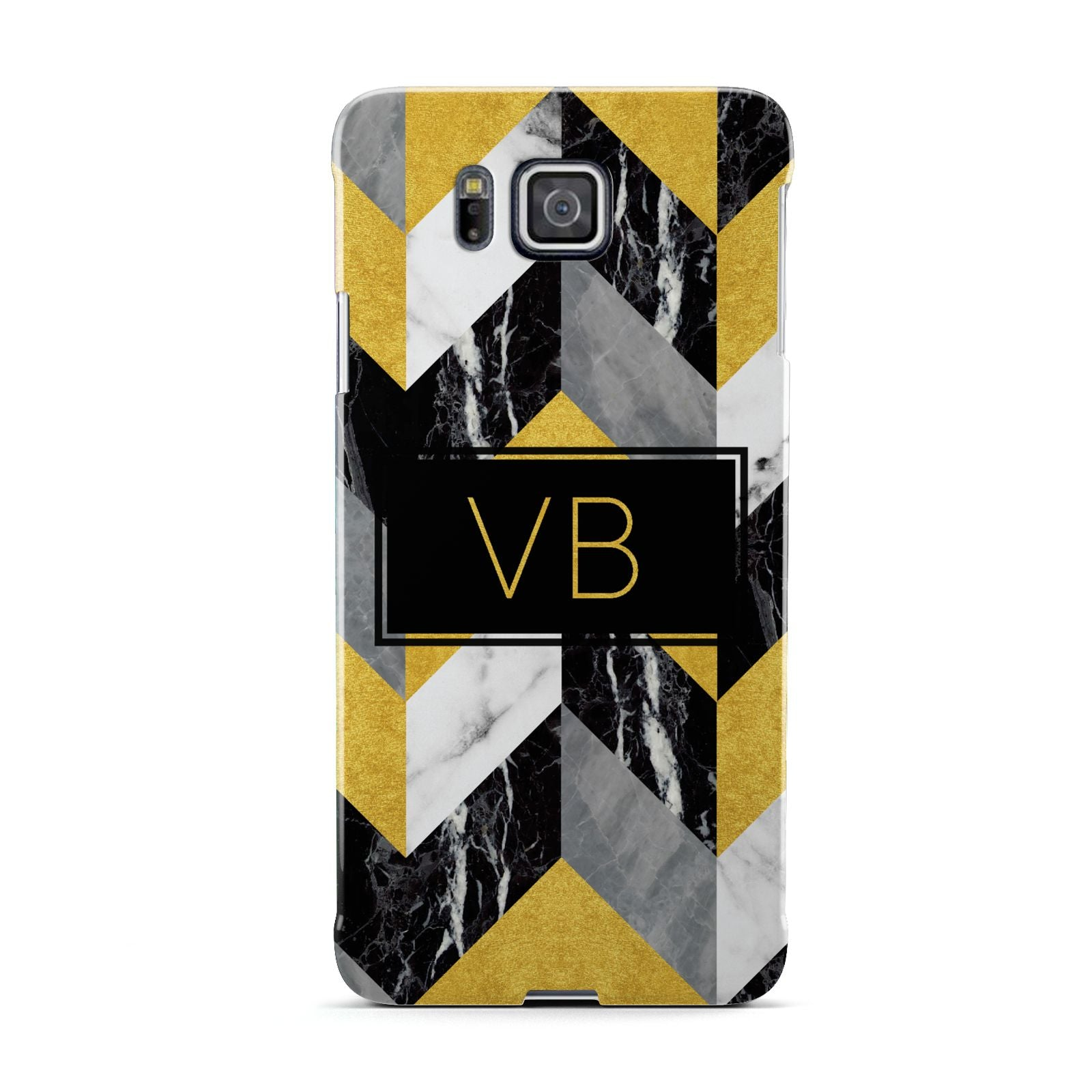 Personalised Marble Effect Initials Samsung Galaxy Alpha Case