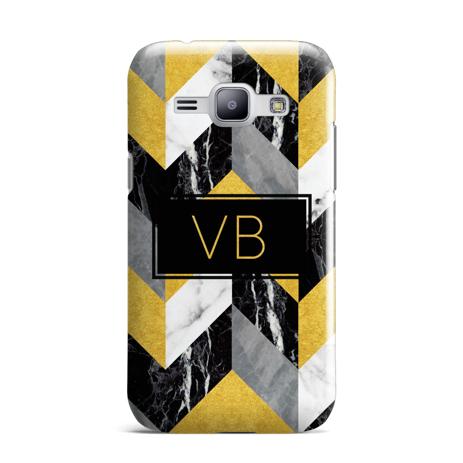 Personalised Marble Effect Initials Samsung Galaxy J1 2015 Case