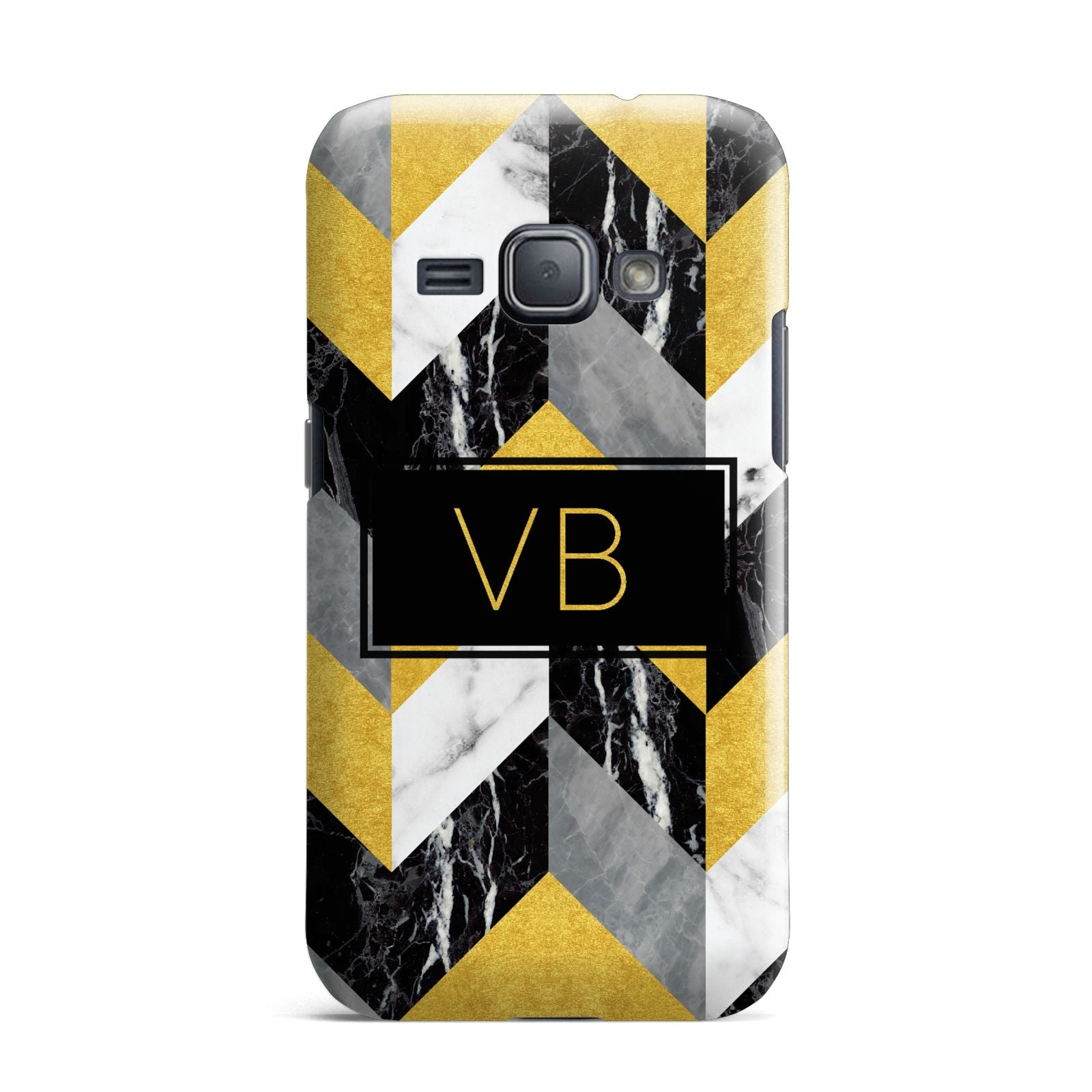 Personalised Marble Effect Initials Samsung Galaxy J1 2016 Case