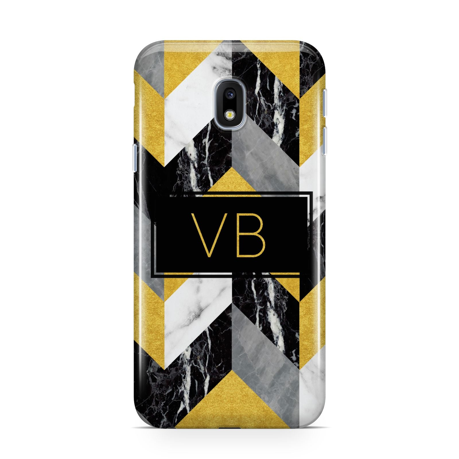 Personalised Marble Effect Initials Samsung Galaxy J3 2017 Case