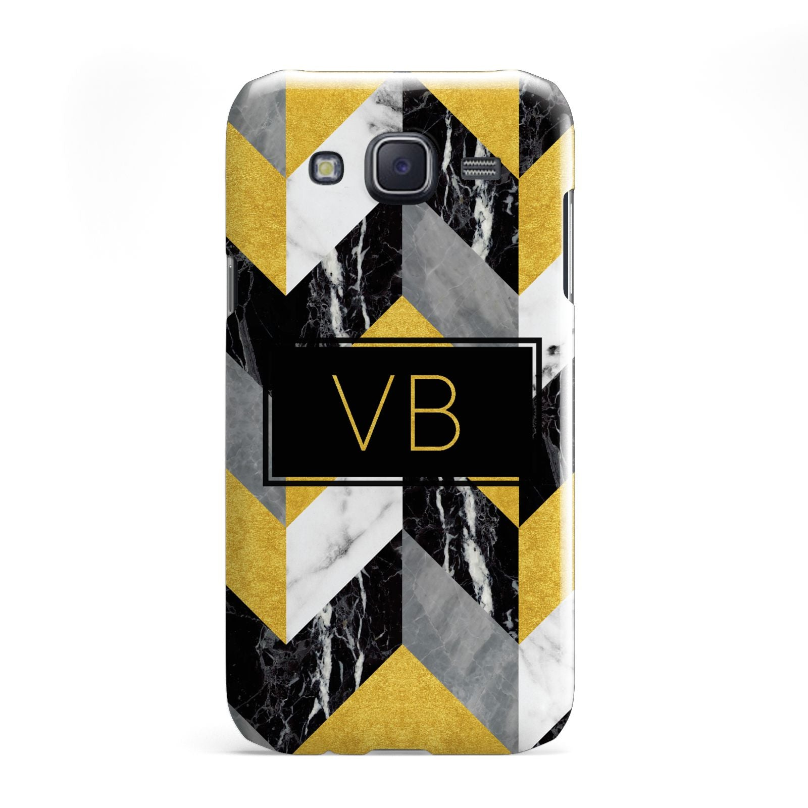 Personalised Marble Effect Initials Samsung Galaxy J5 Case