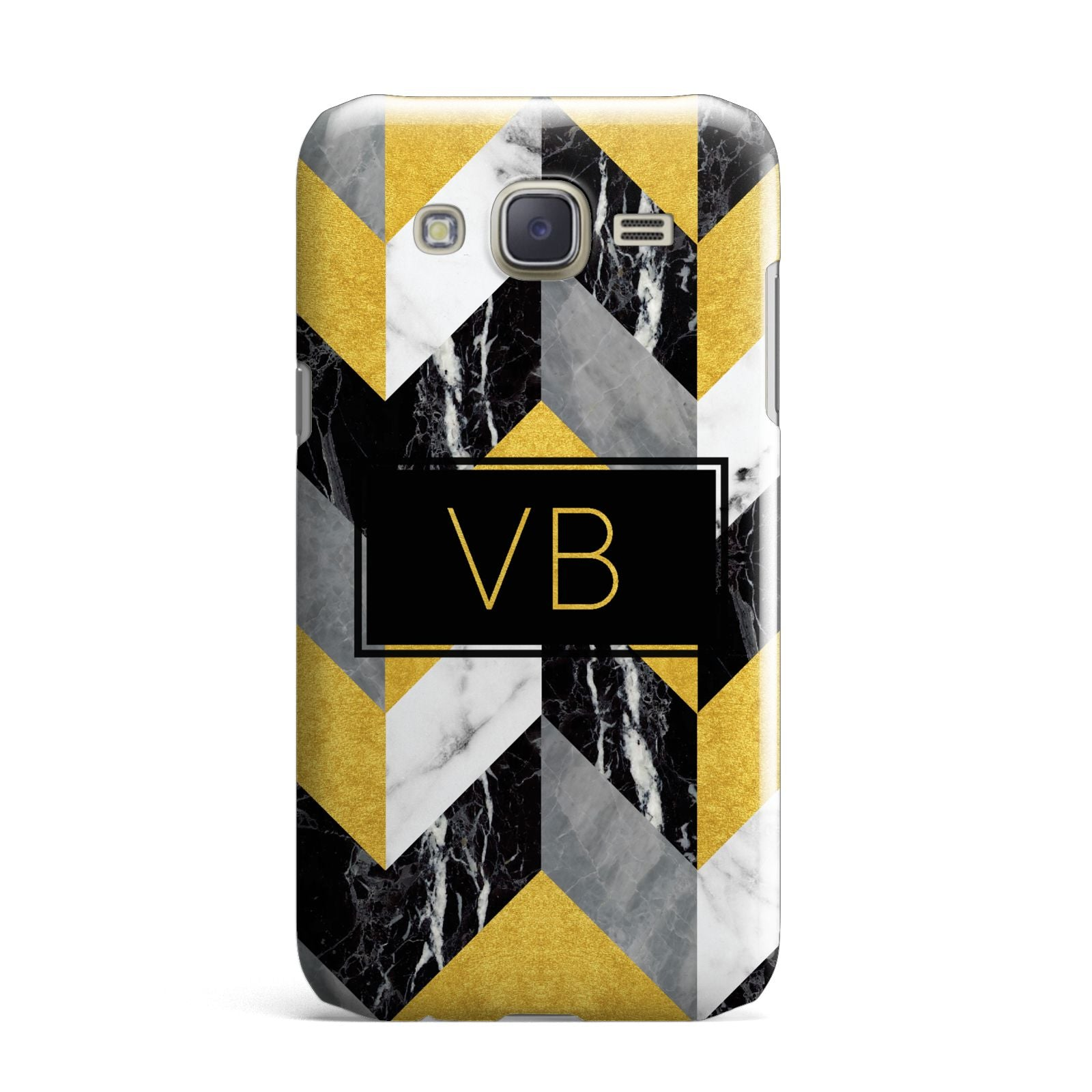 Personalised Marble Effect Initials Samsung Galaxy J7 Case