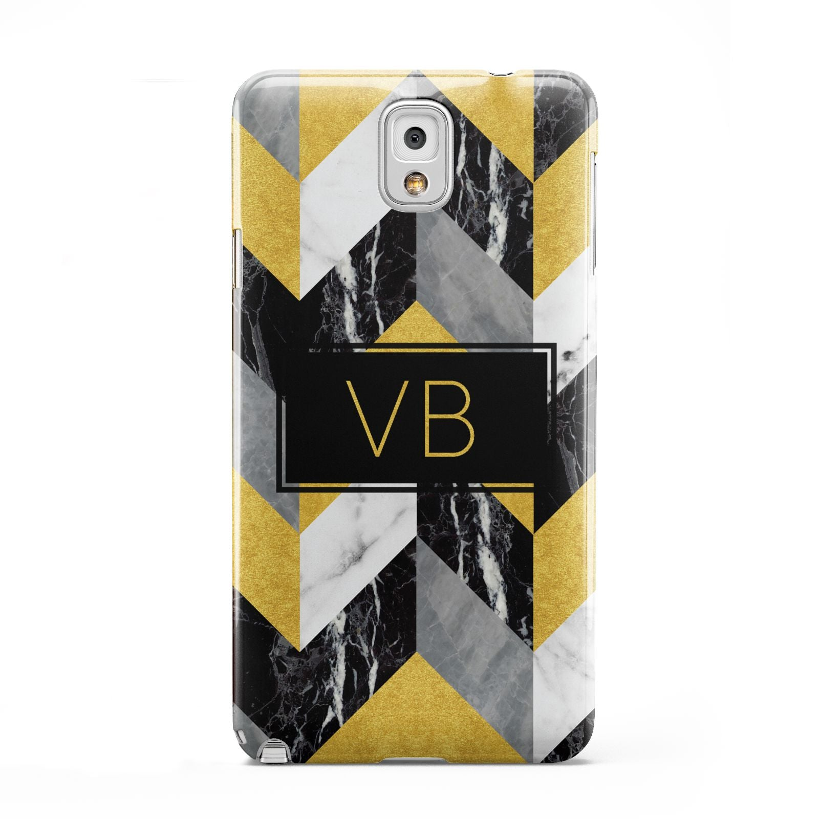 Personalised Marble Effect Initials Samsung Galaxy Note 3 Case