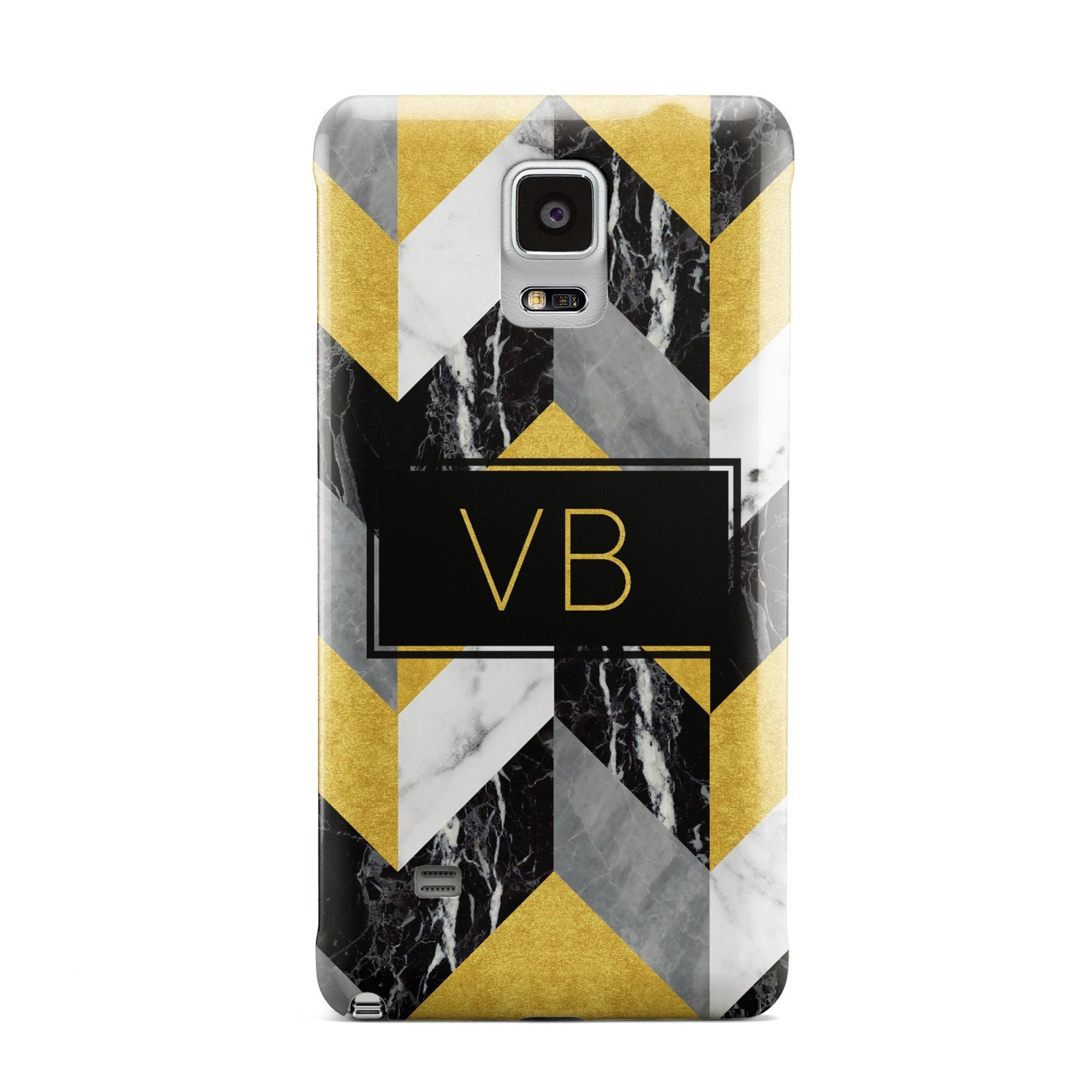 Personalised Marble Effect Initials Samsung Galaxy Note 4 Case