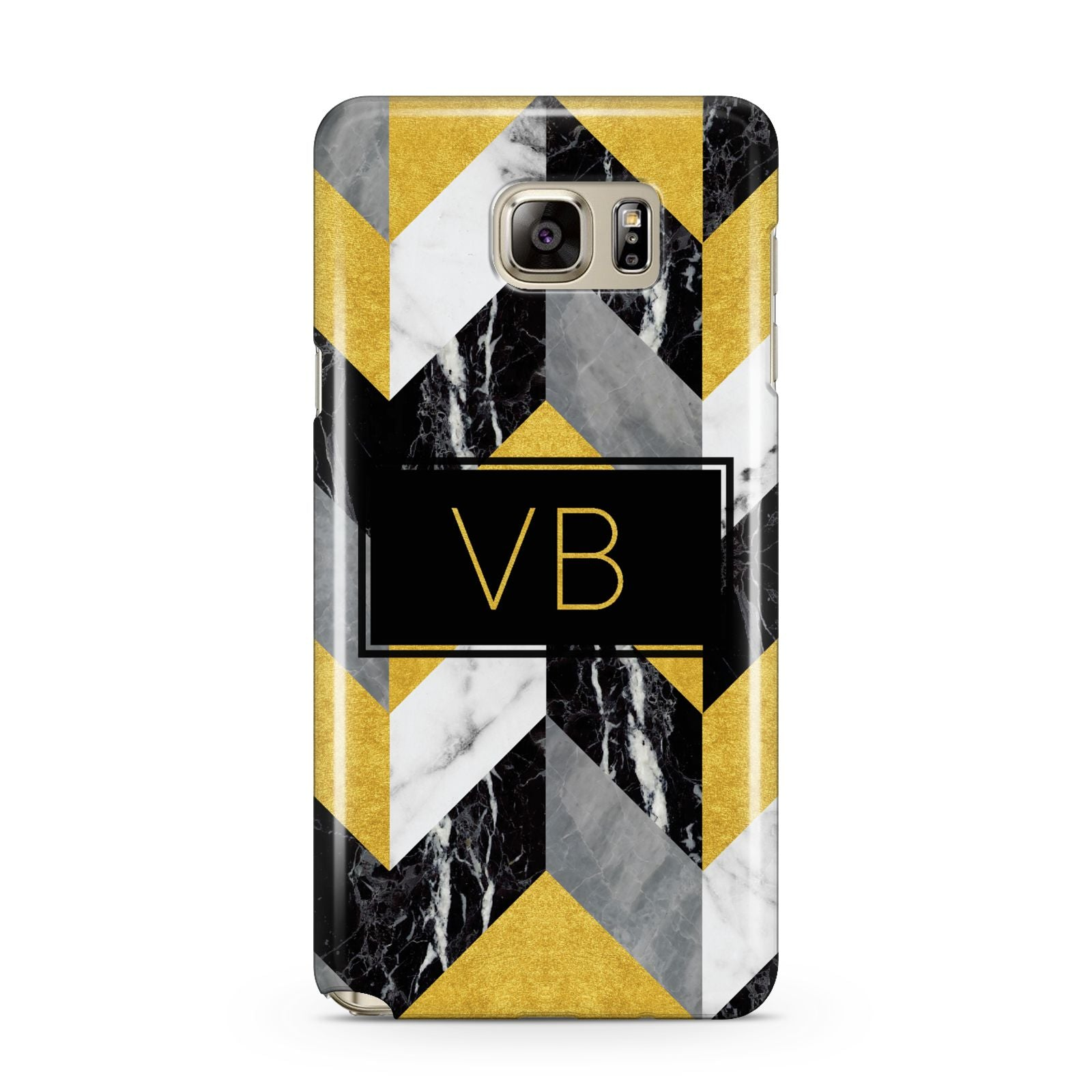 Personalised Marble Effect Initials Samsung Galaxy Note 5 Case