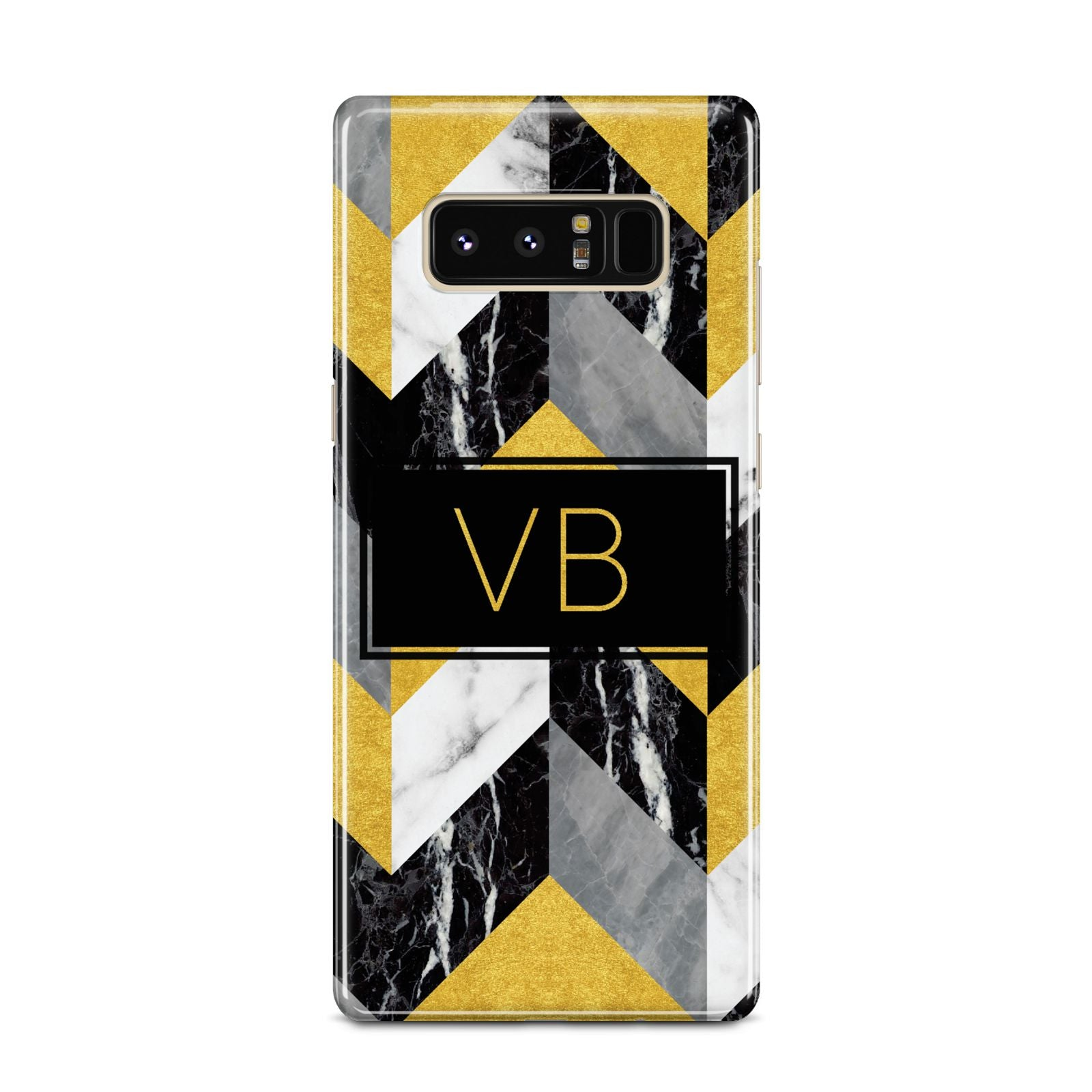 Personalised Marble Effect Initials Samsung Galaxy Note 8 Case