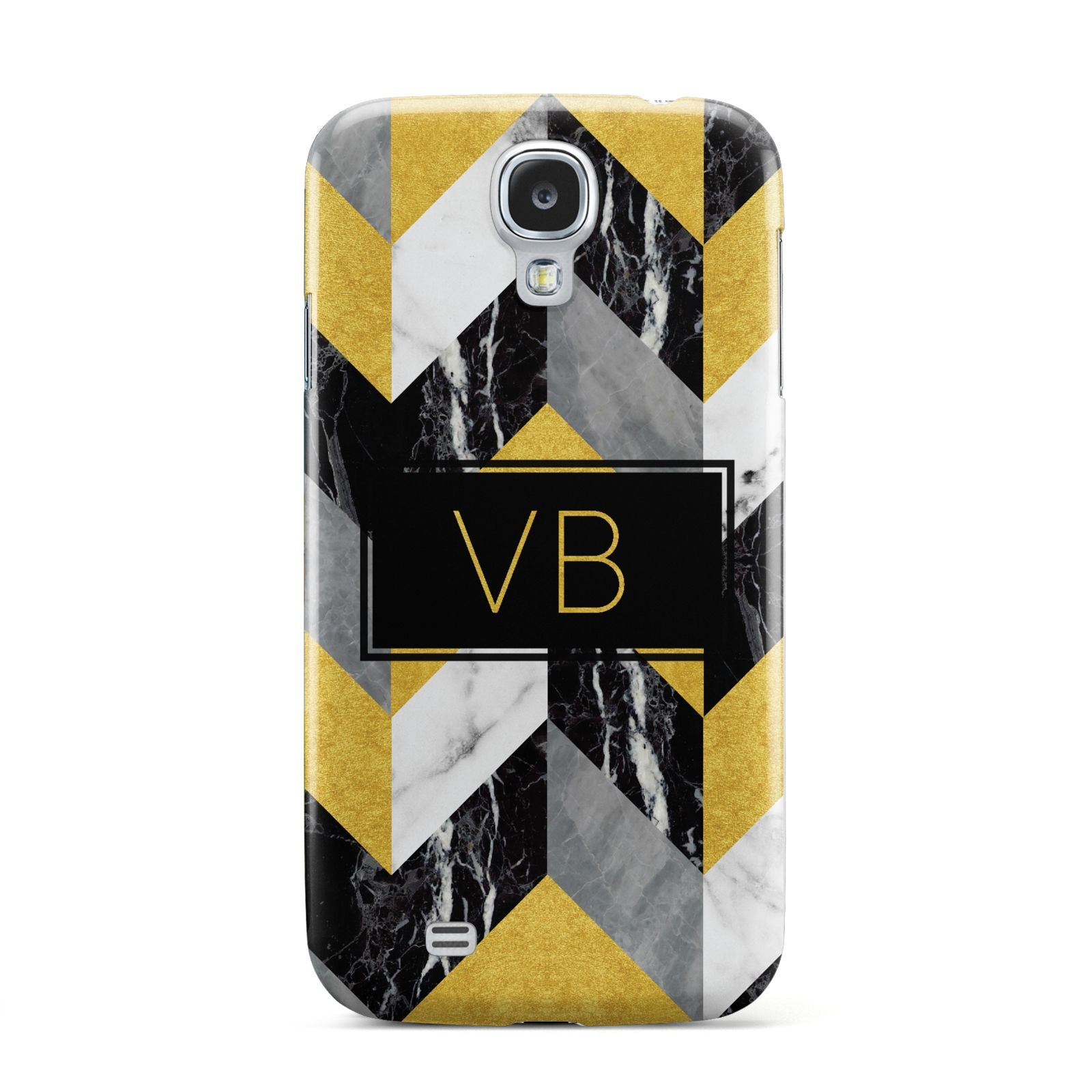 Personalised Marble Effect Initials Samsung Galaxy S4 Case