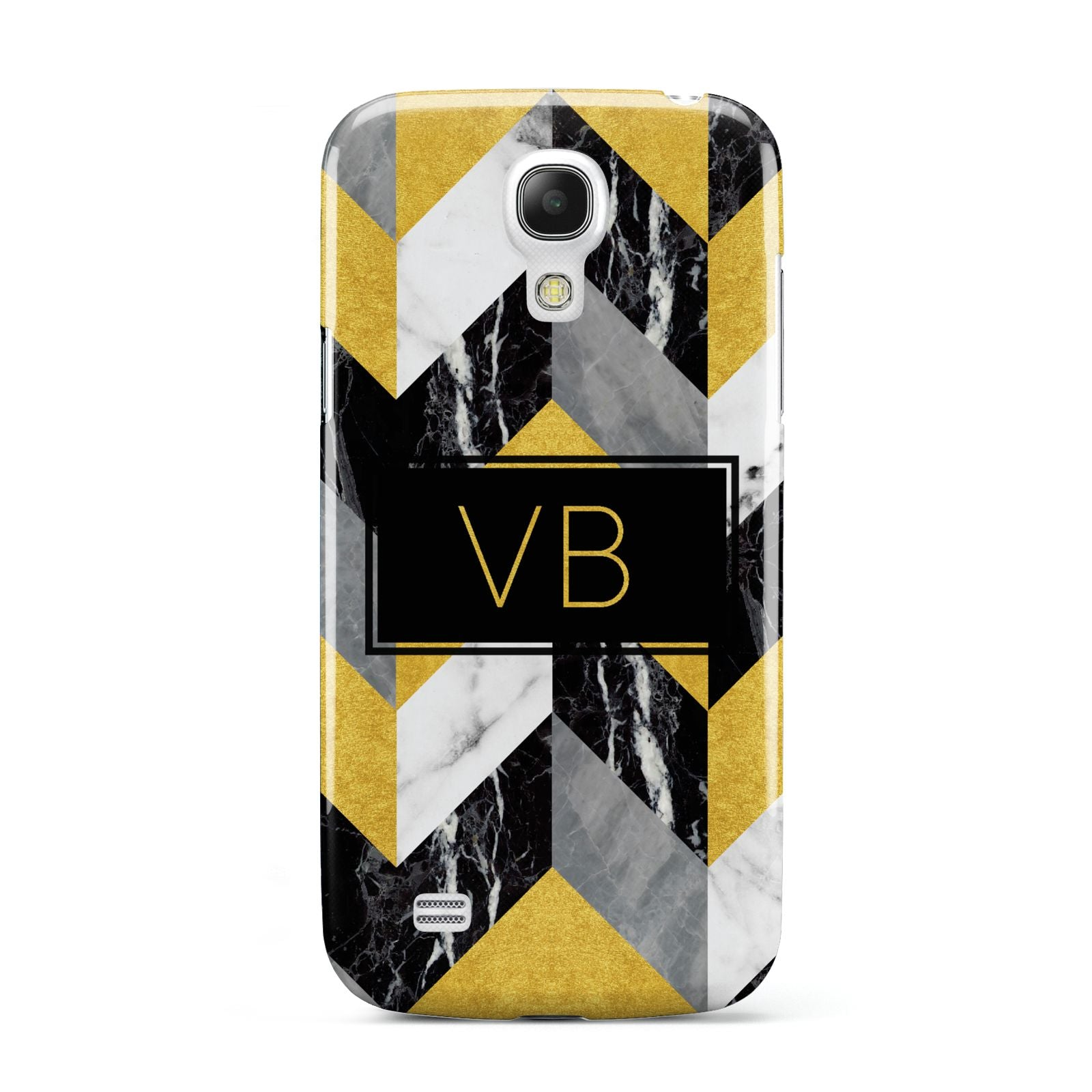 Personalised Marble Effect Initials Samsung Galaxy S4 Mini Case