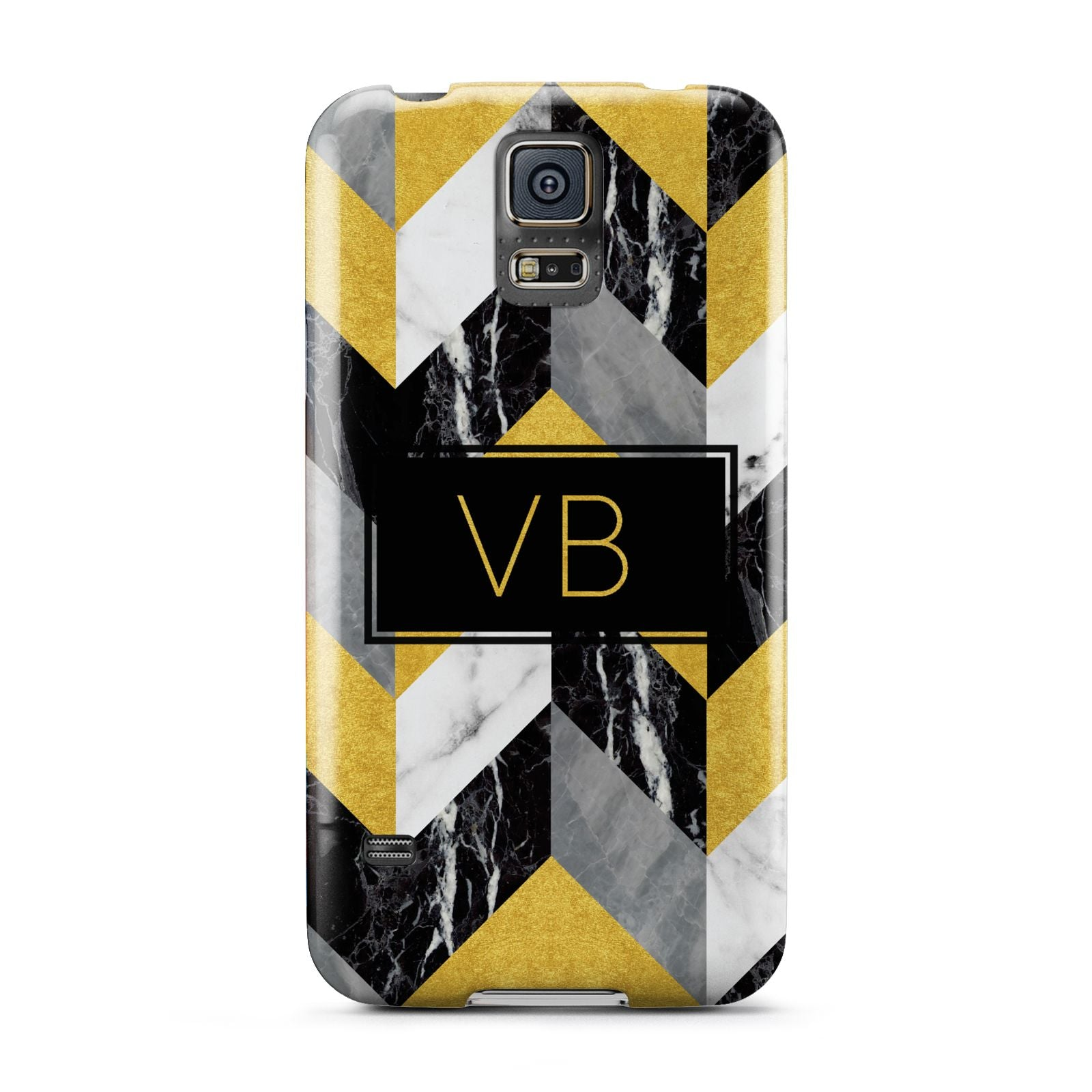 Personalised Marble Effect Initials Samsung Galaxy S5 Case