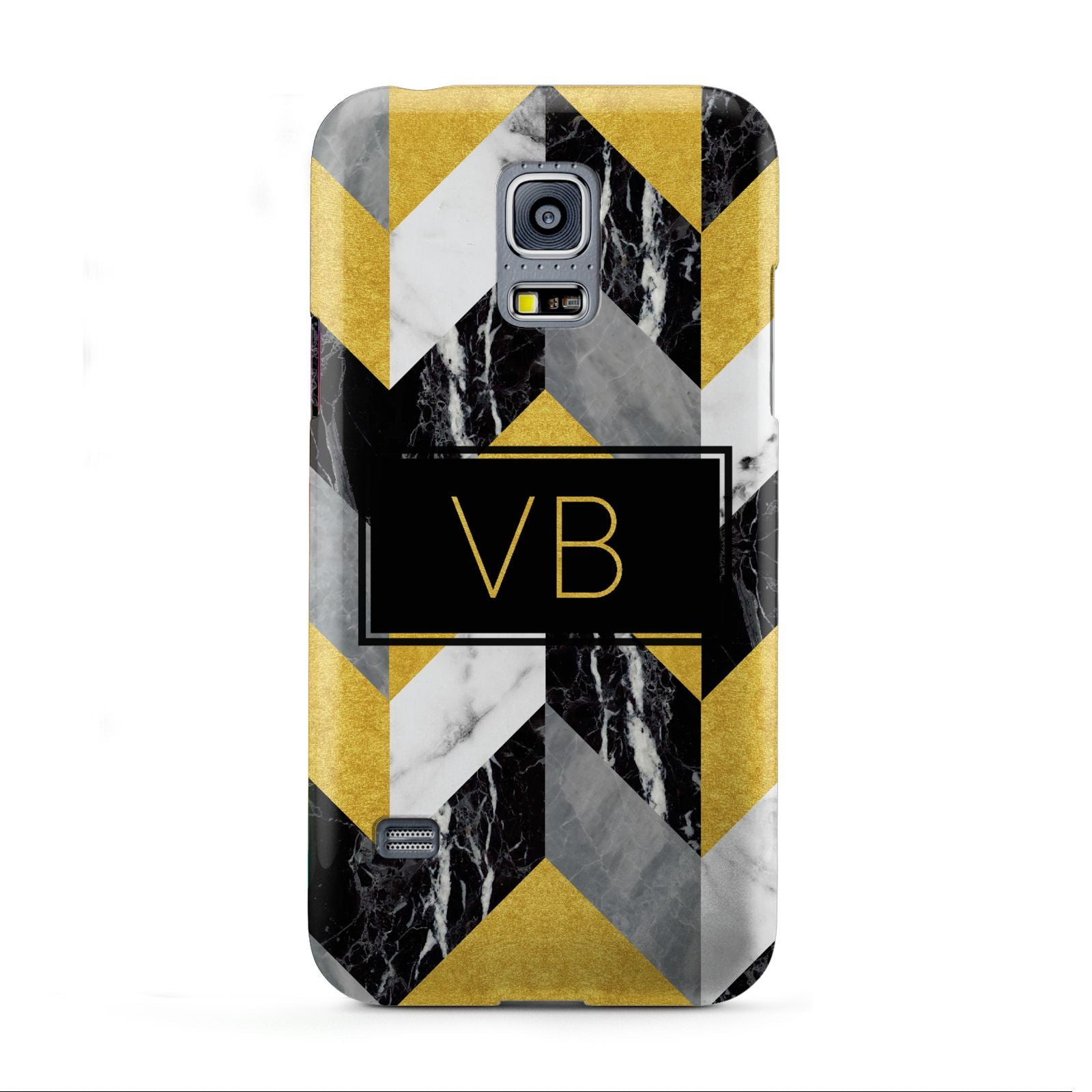 Personalised Marble Effect Initials Samsung Galaxy S5 Mini Case