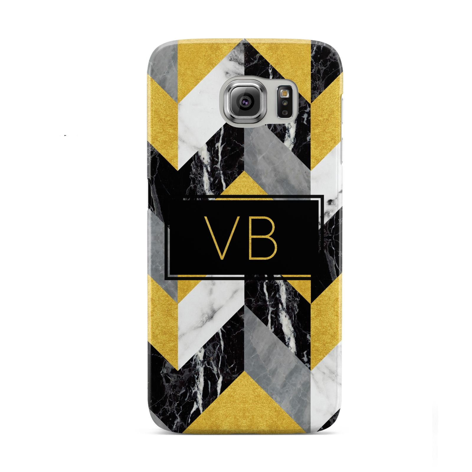 Personalised Marble Effect Initials Samsung Galaxy S6 Case