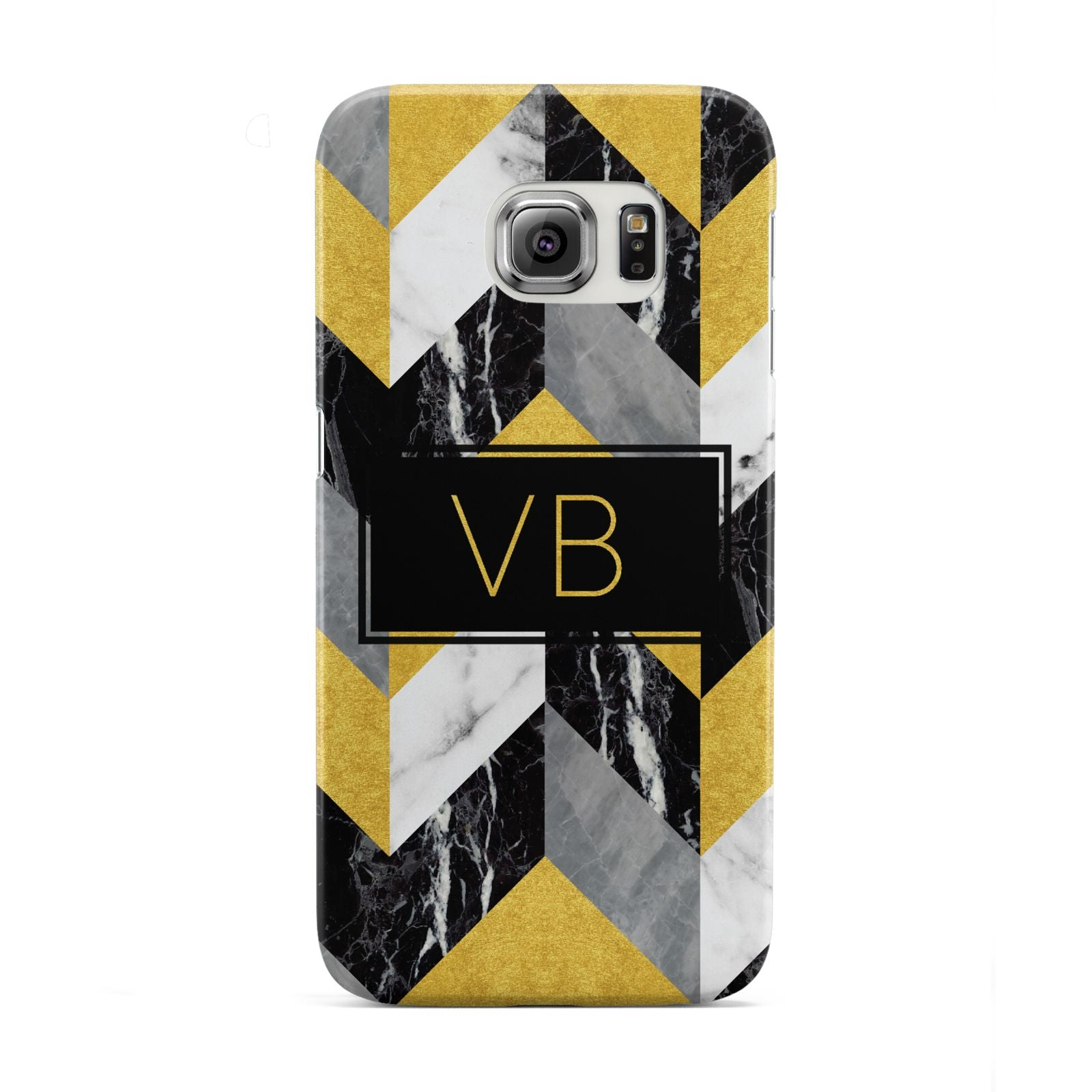 Personalised Marble Effect Initials Samsung Galaxy S6 Edge Case