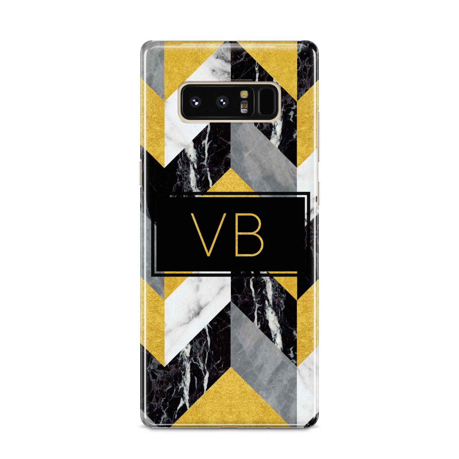 Personalised Marble Effect Initials Samsung Galaxy S8 Case