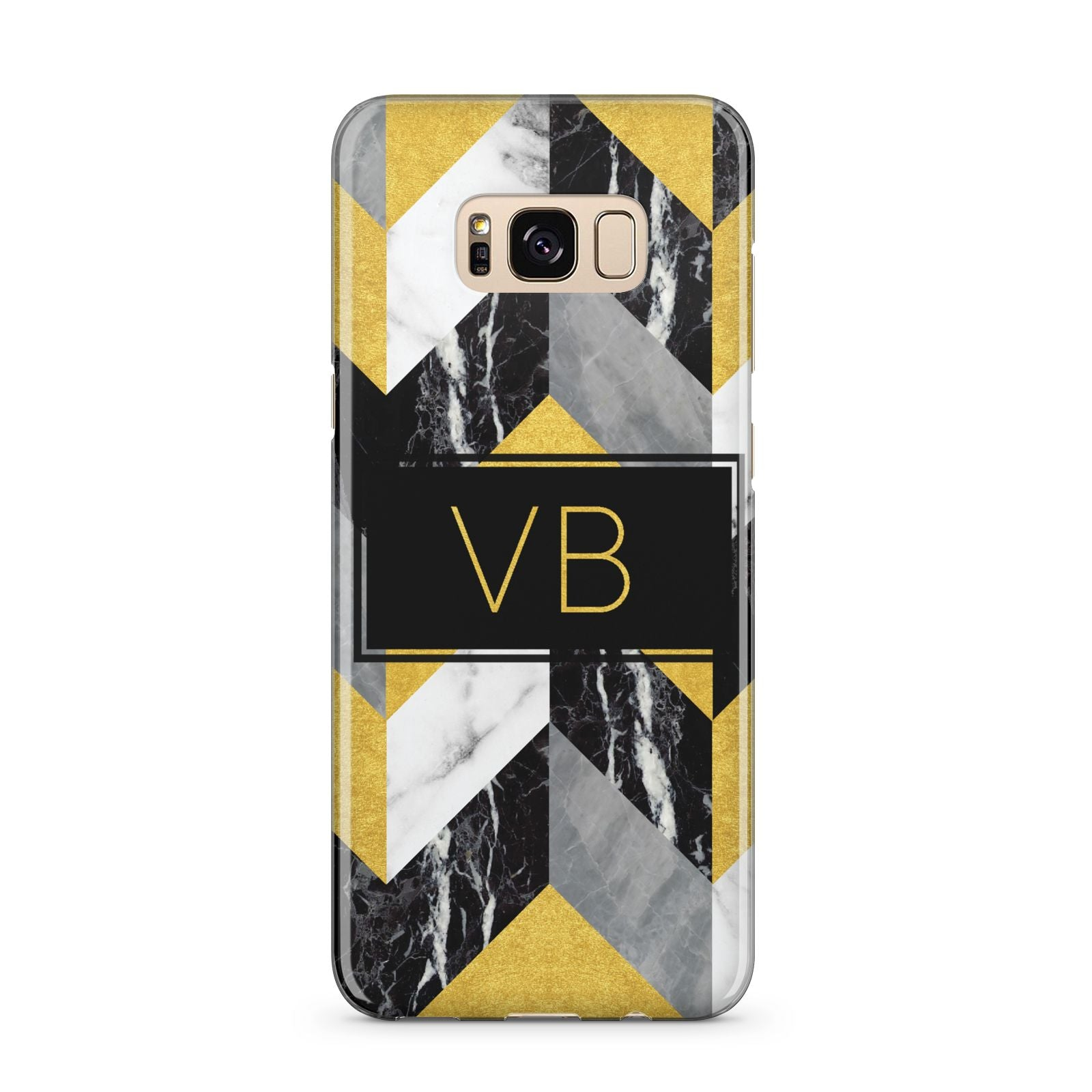 Personalised Marble Effect Initials Samsung Galaxy S8 Plus Case