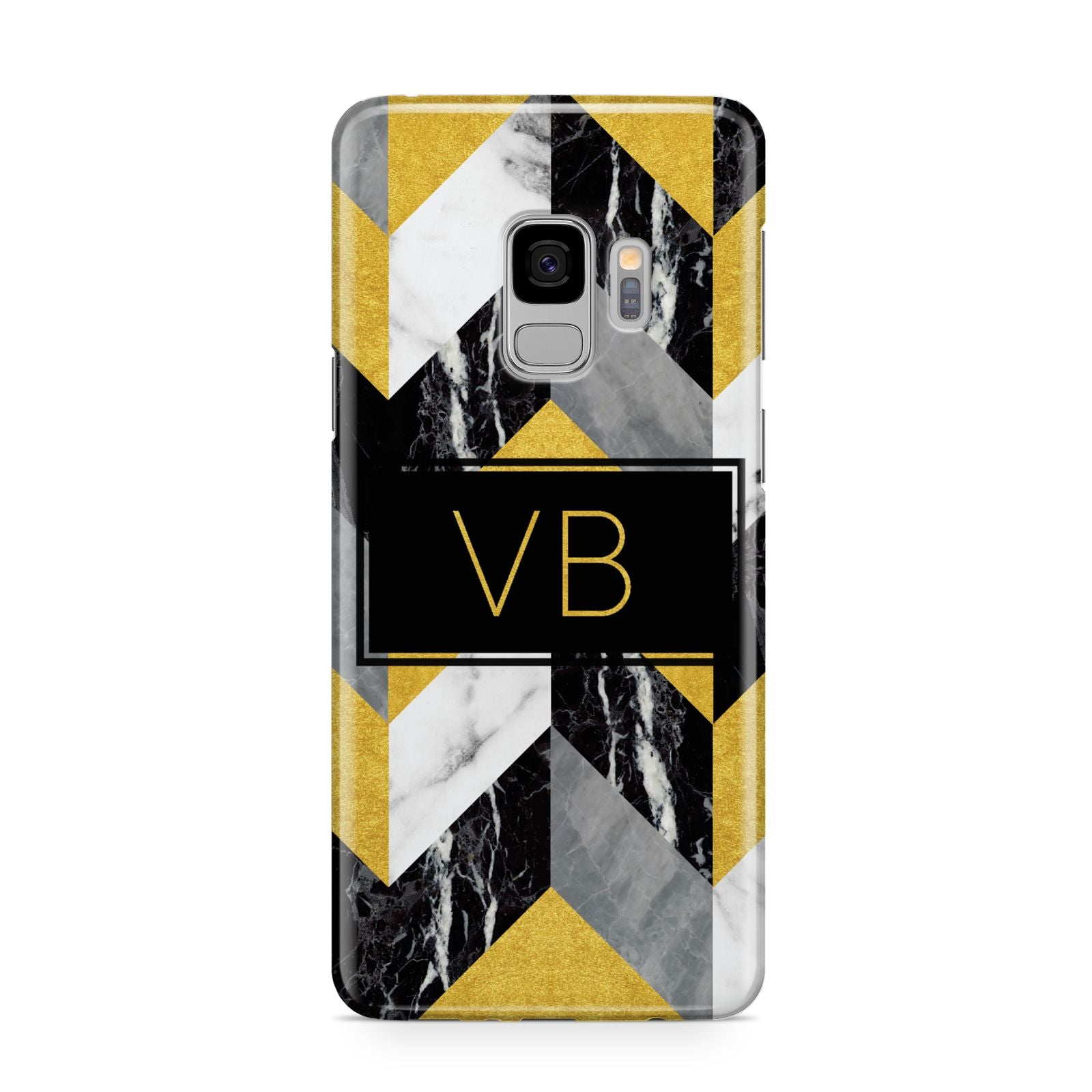 Personalised Marble Effect Initials Samsung Galaxy S9 Case