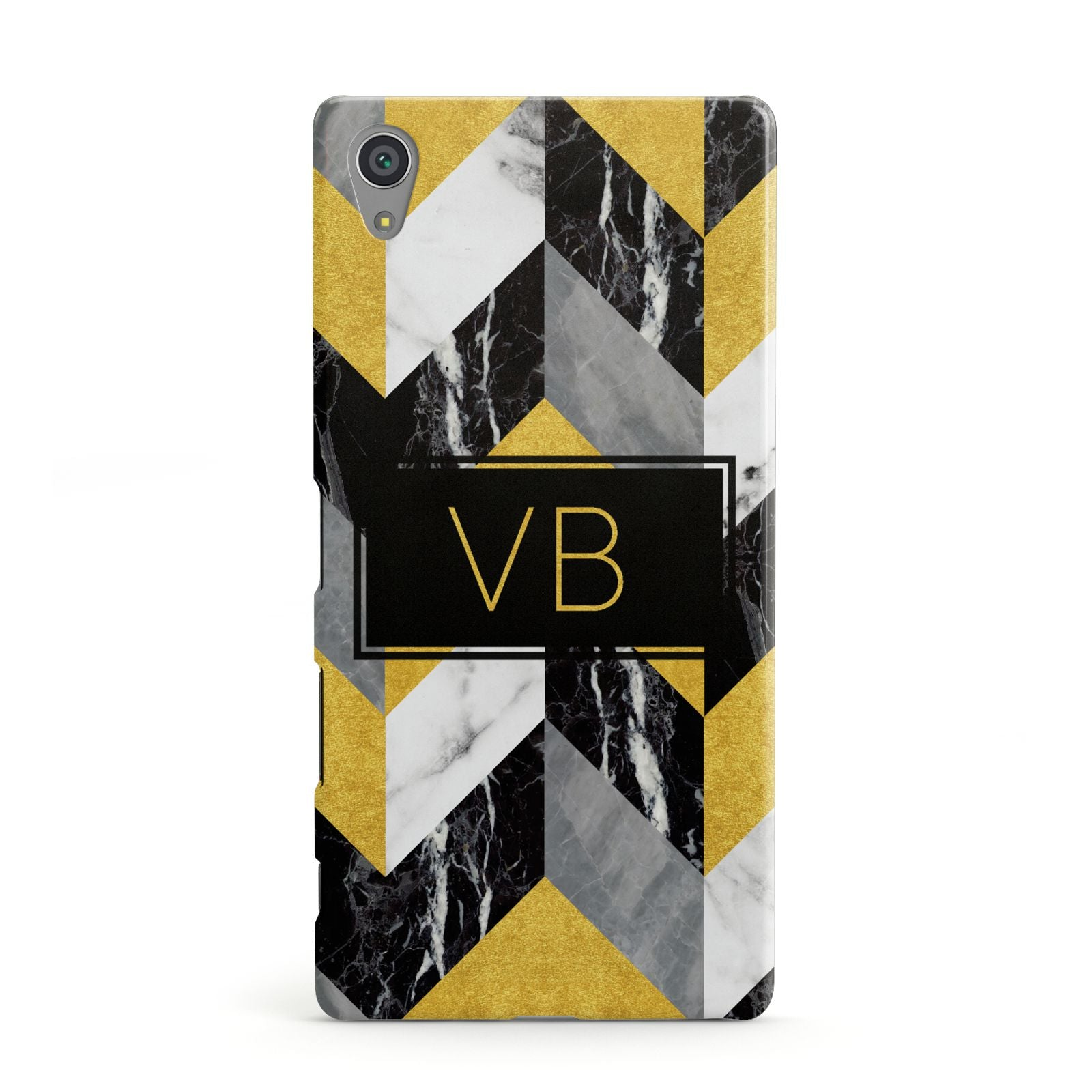 Personalised Marble Effect Initials Sony Xperia Case