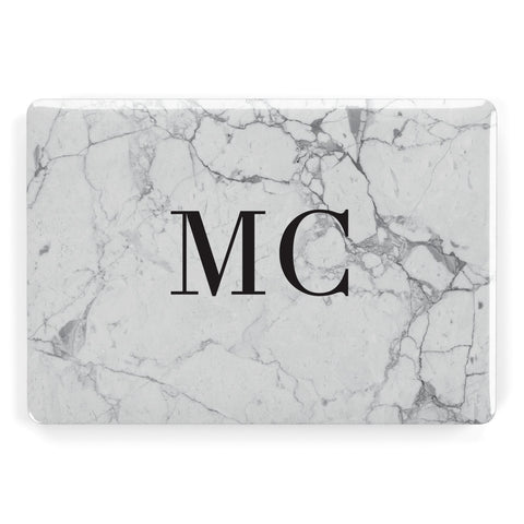 Personalised Marble Initials Apple Macbook Case