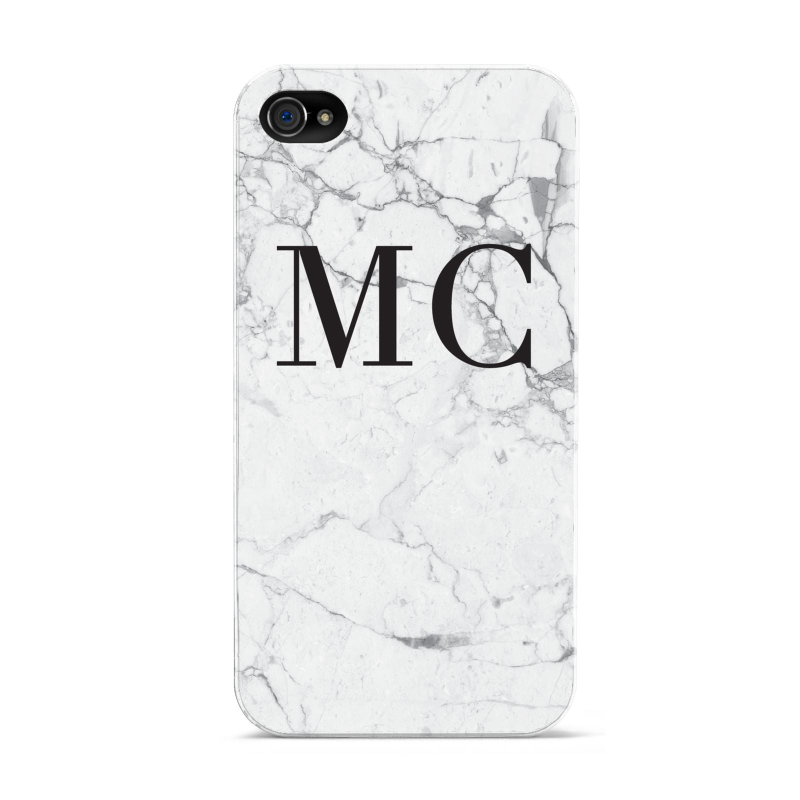 Personalised Marble Initials Apple iPhone 4s Case